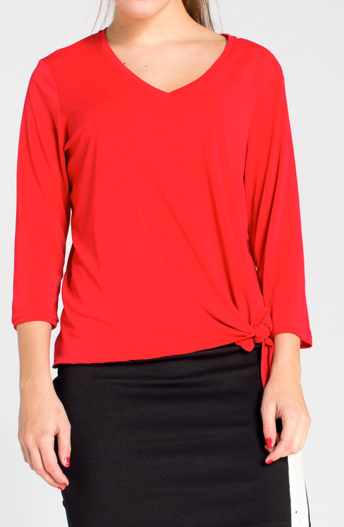Anna Dames Shirt met knoopdetail 0