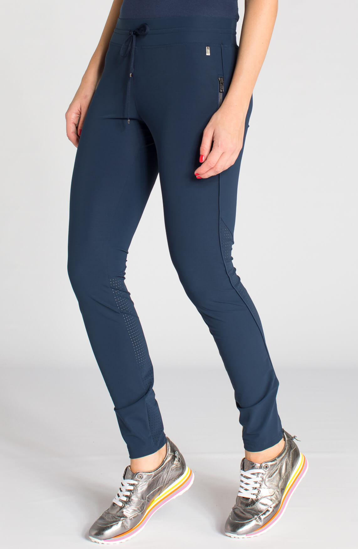 Anna Dames Comfortabele broek Blauw