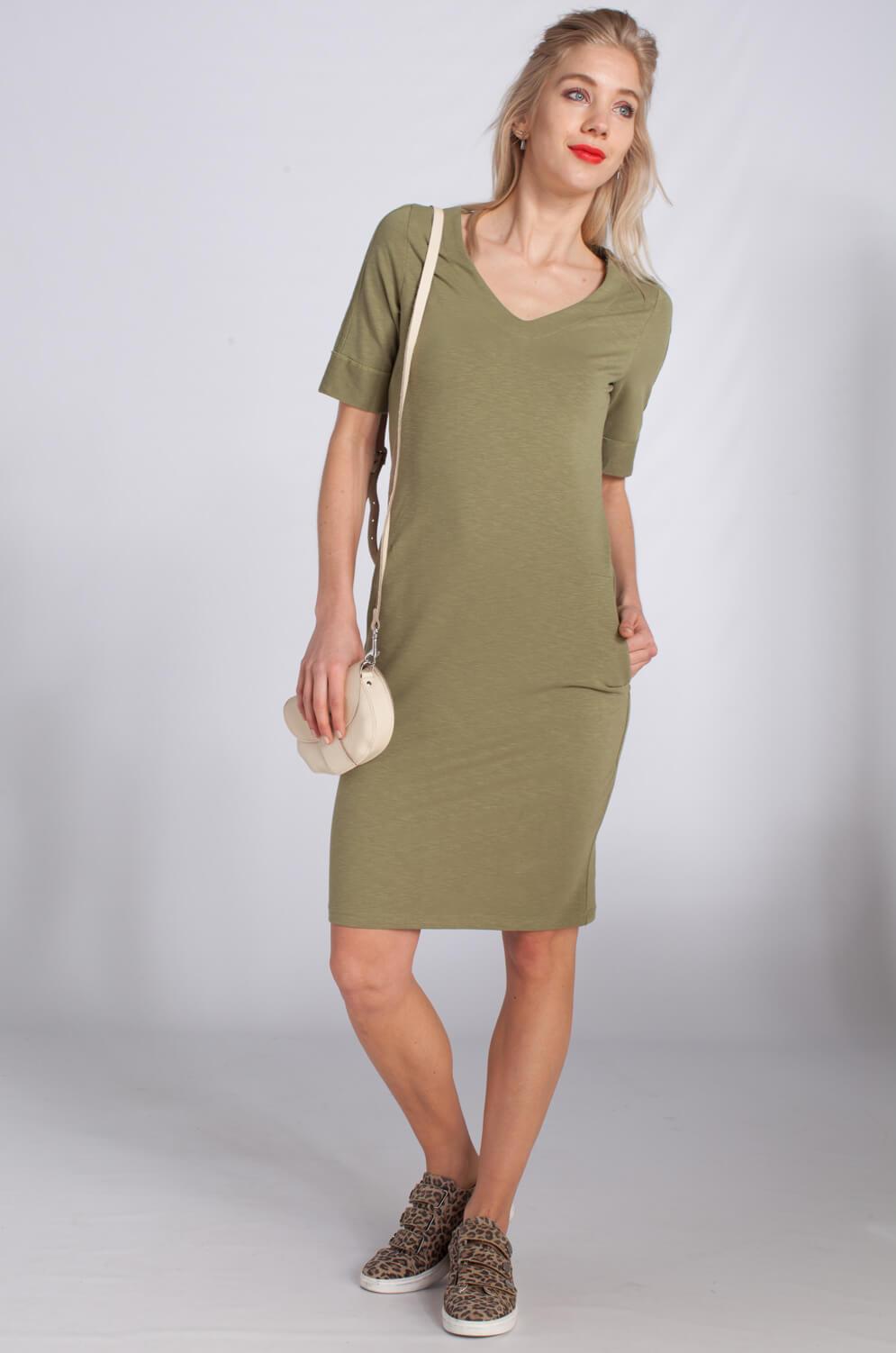 Anna Dames Sportieve jurk groen