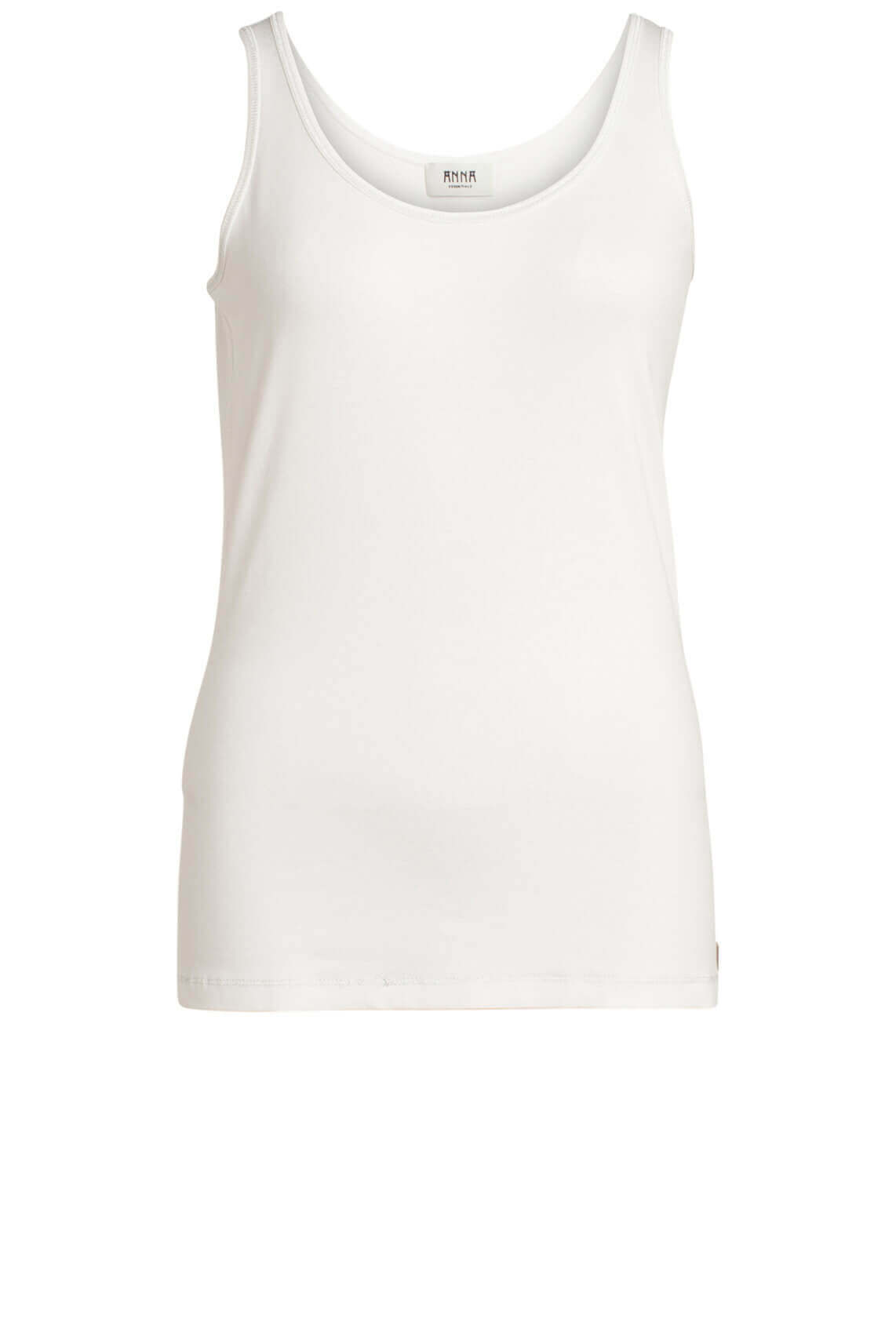 Anna Dames Top met lurex wit