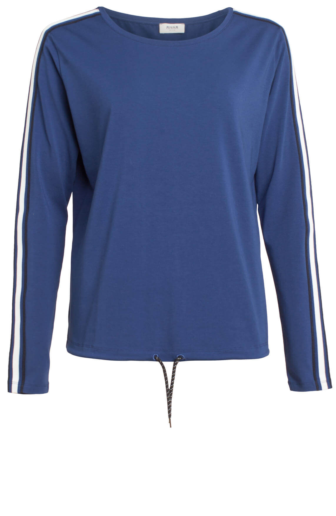 Anna Blue Dames Casual shirt Blauw