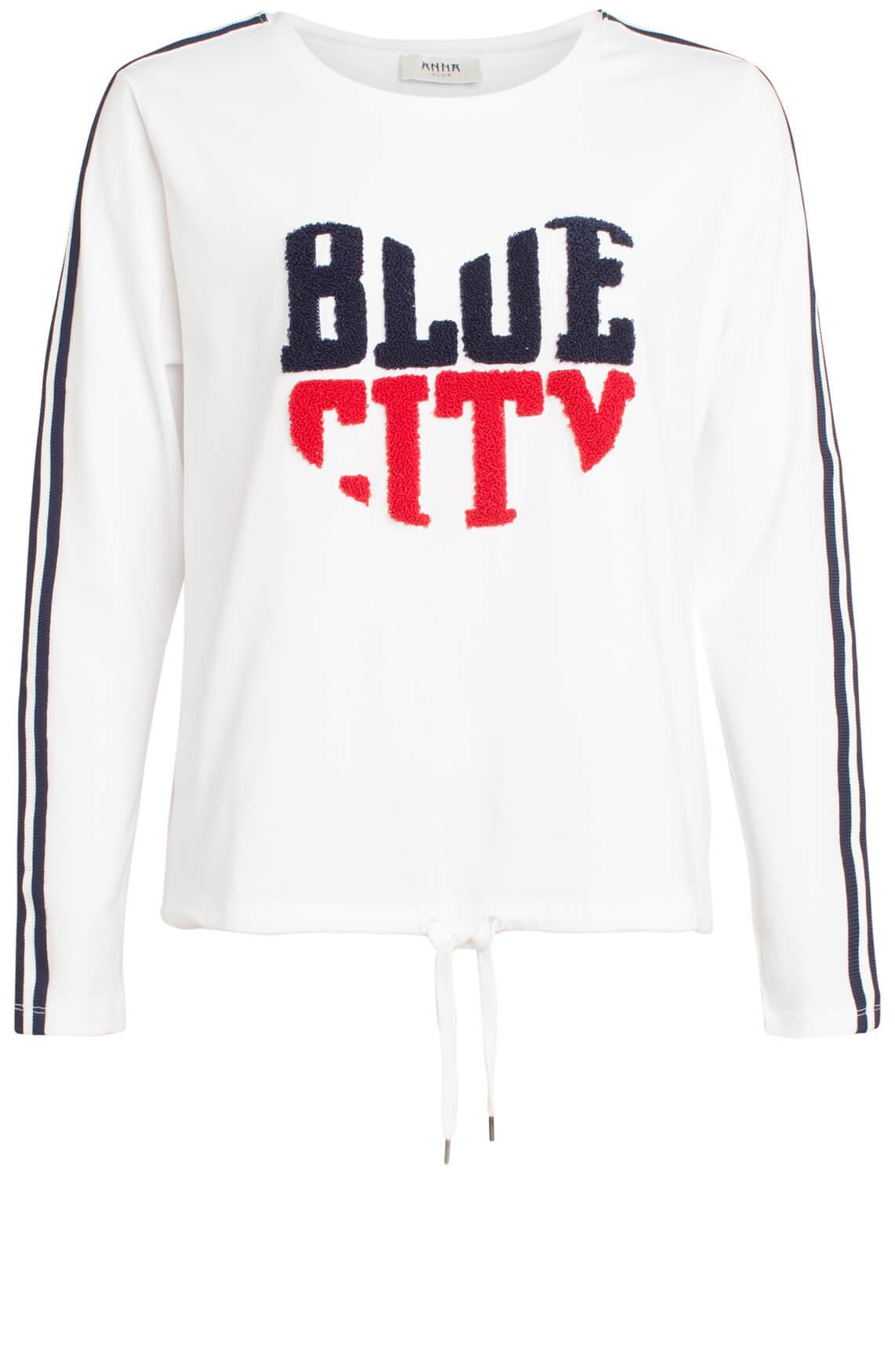 Anna Blue Dames Shirt Blue city