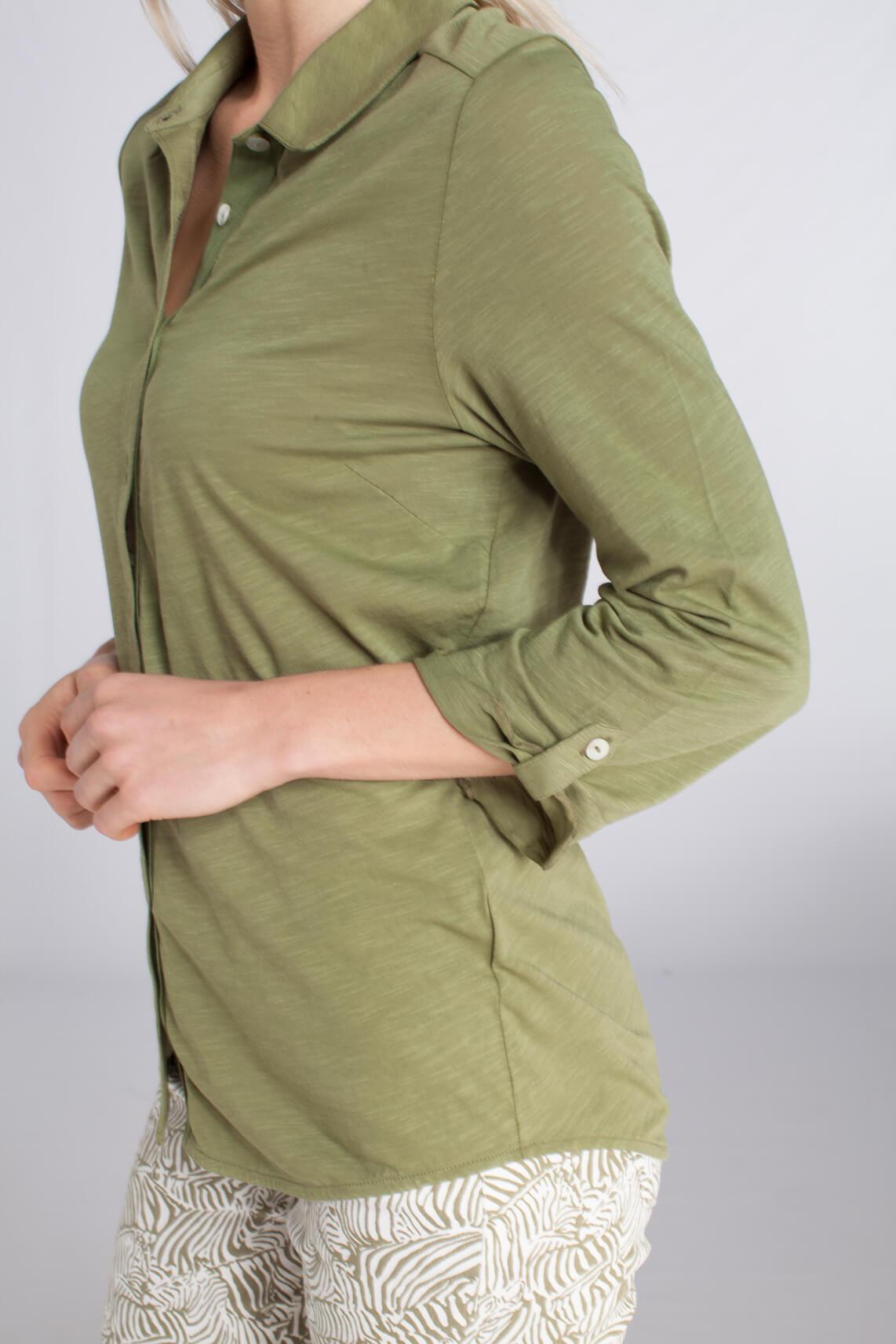 Anna Blue Dames Sportieve blouse groen