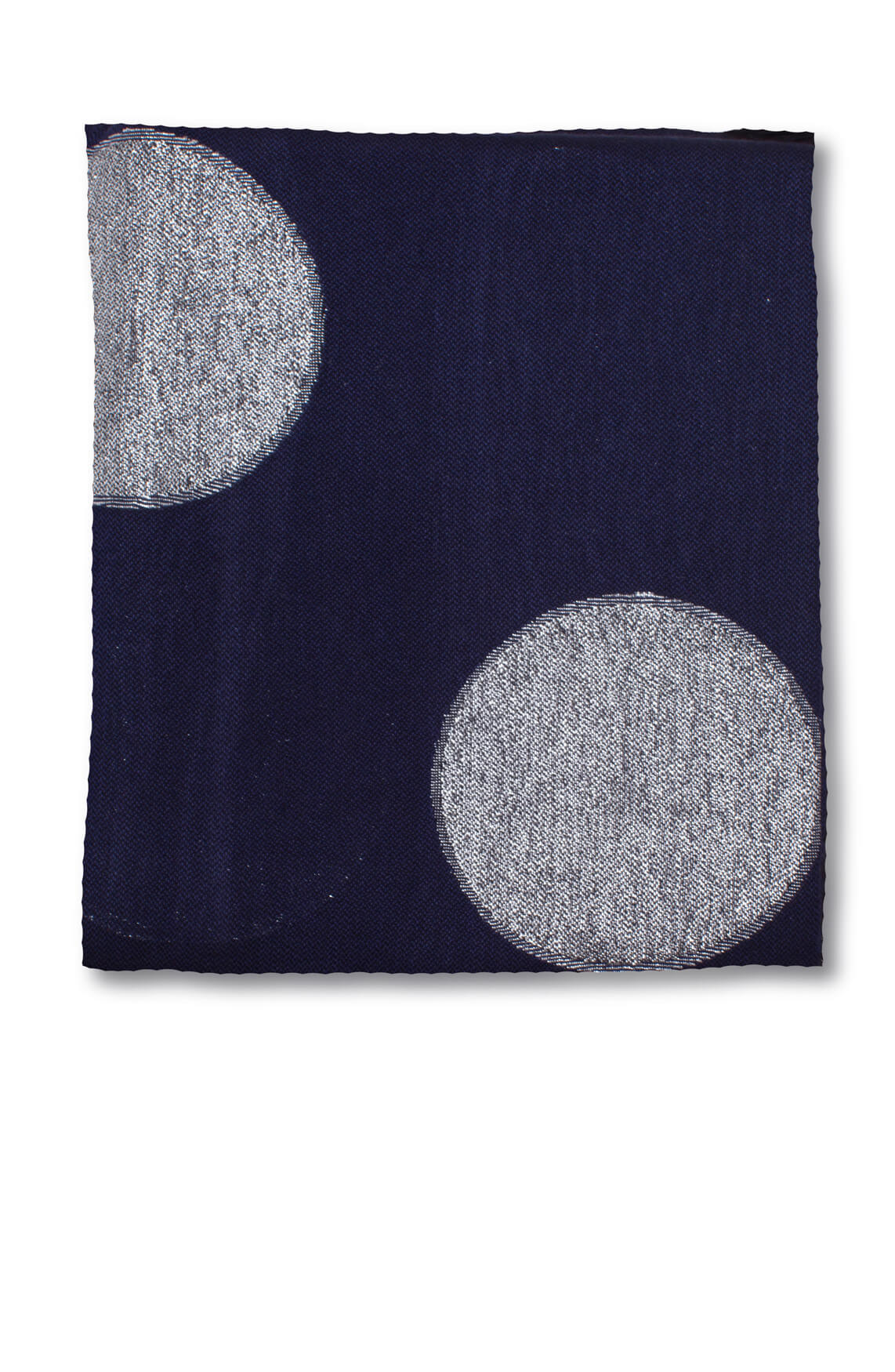 Moment by Moment Dames Shawl met cirkels Blauw