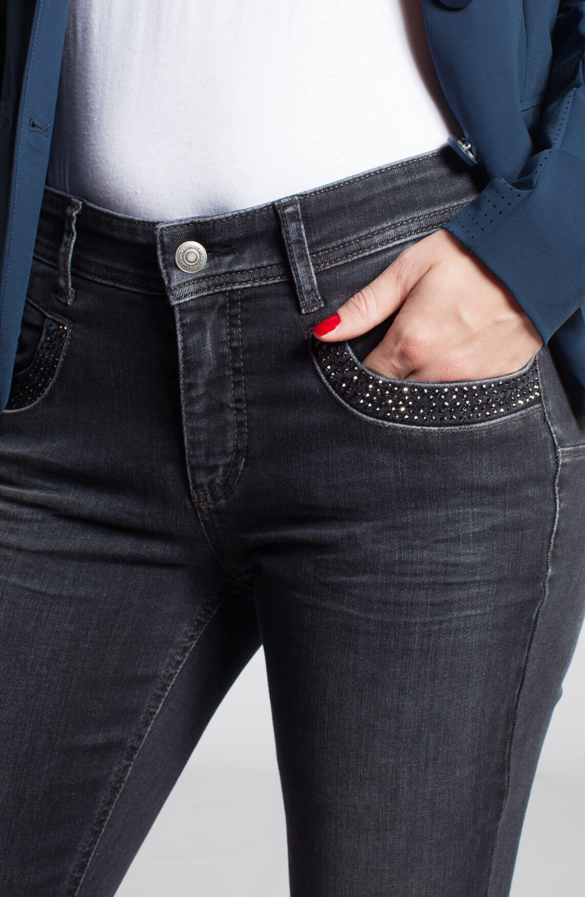 Cambio Dames Parlina jeans met studs 0