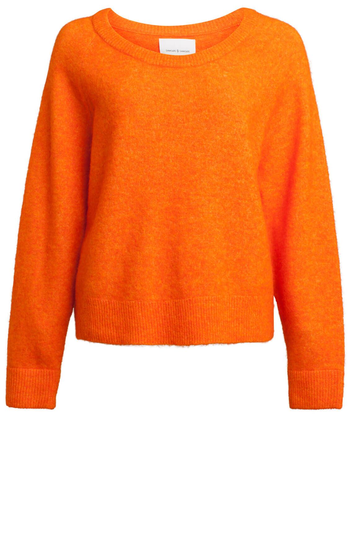 Samsoe Samsoe Dames Nor O-neck pullover Oranje