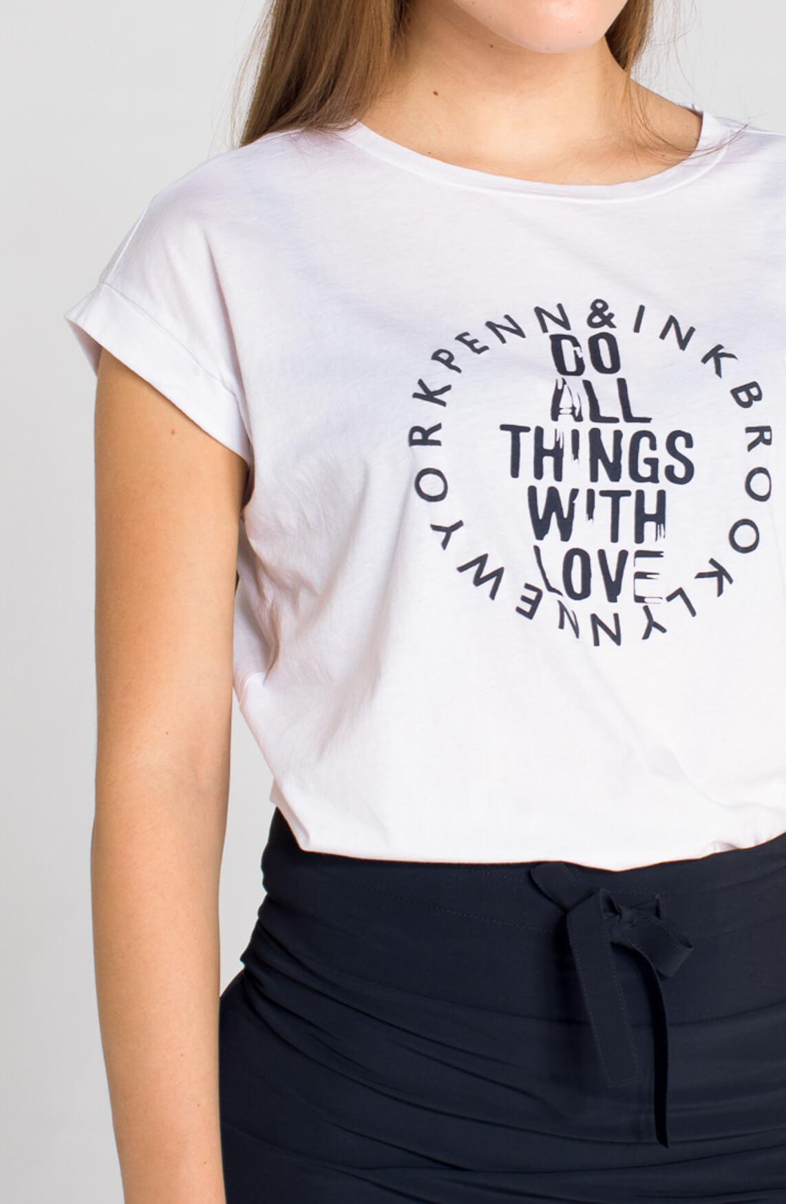 Penn & Ink Dames Shirt met tekst | Anna van Toor - photo#4