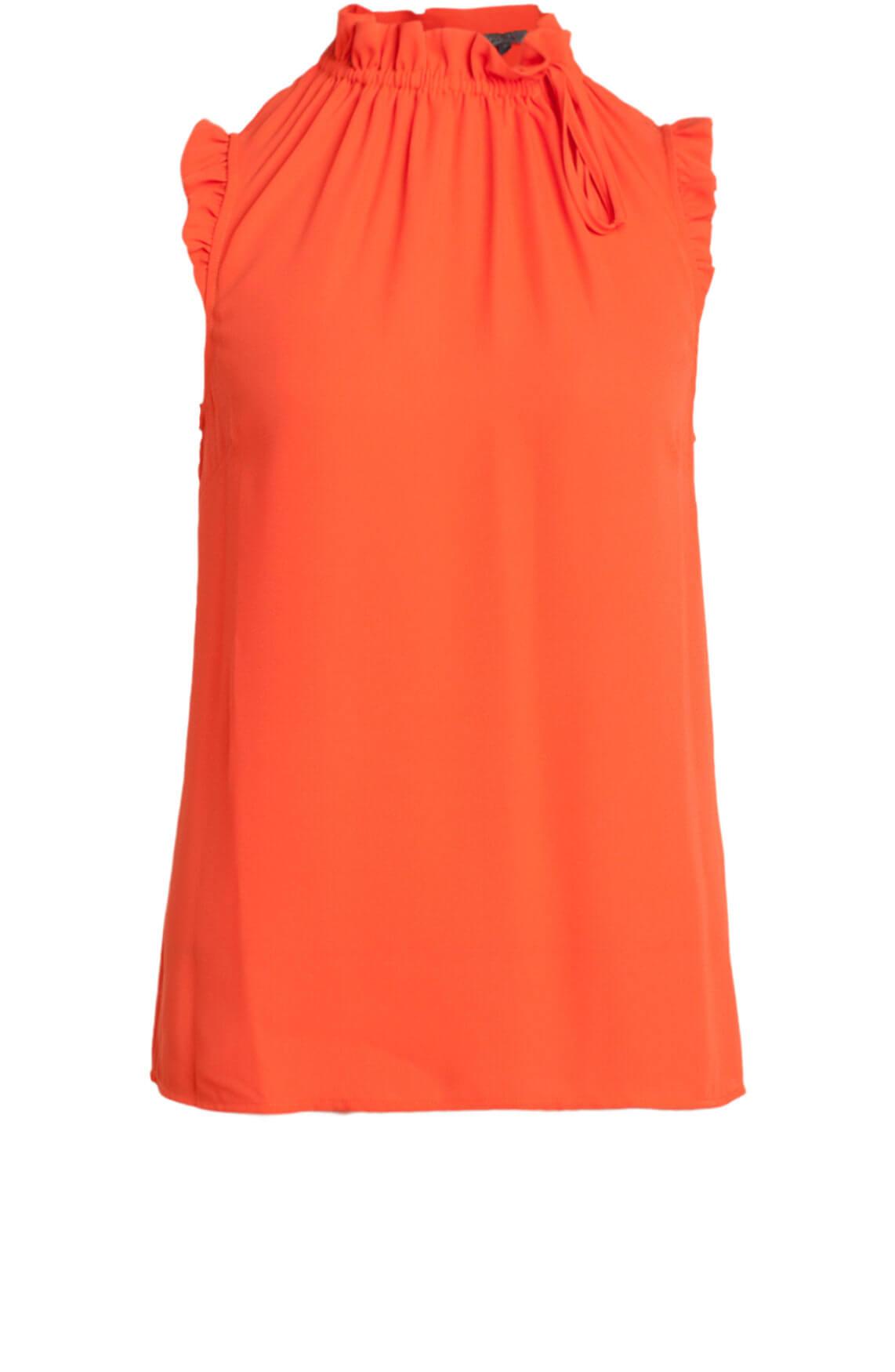 Kocca Dames Nada mouwloze blouse Oranje