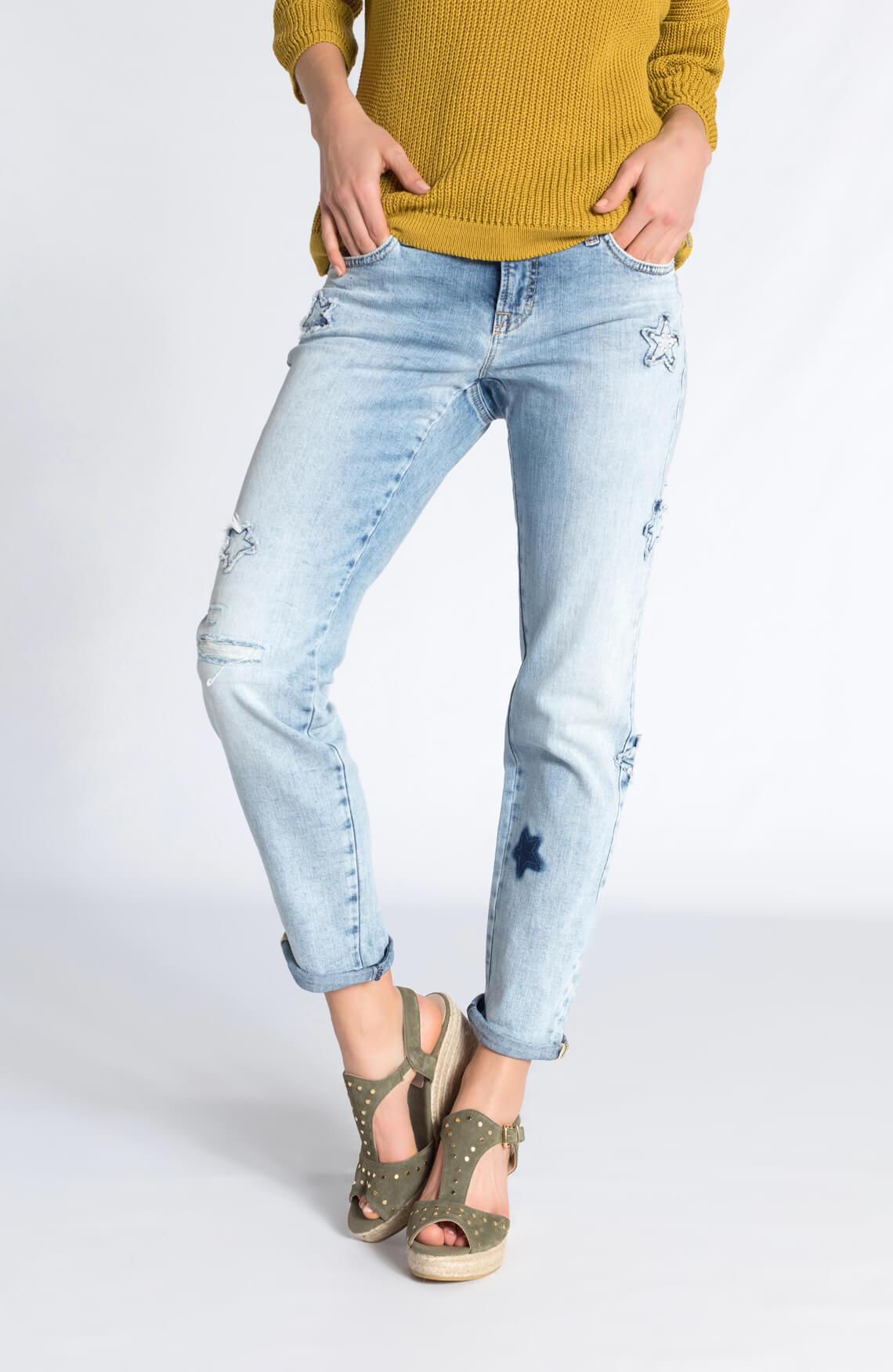 Cambio Dames Laurie jeans met sterren