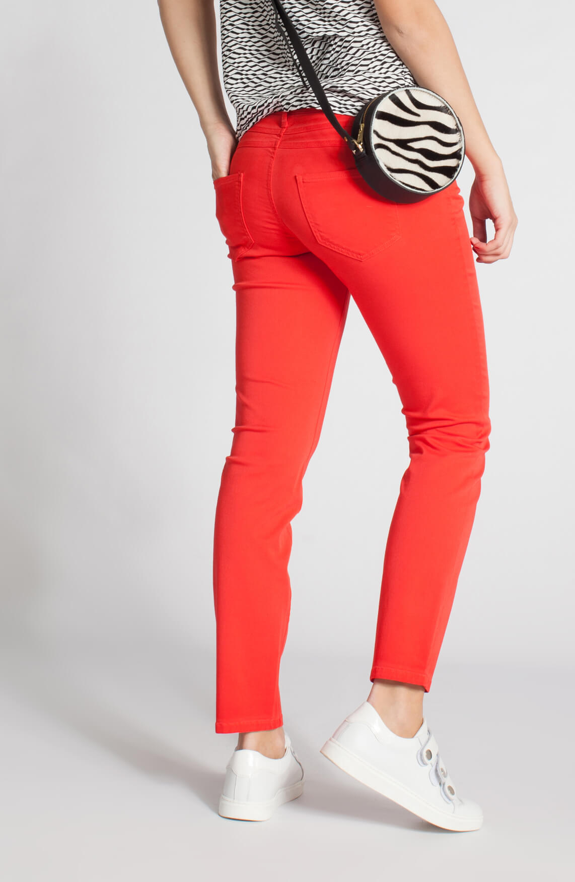 Cambio Dames Liu jeans rood 0