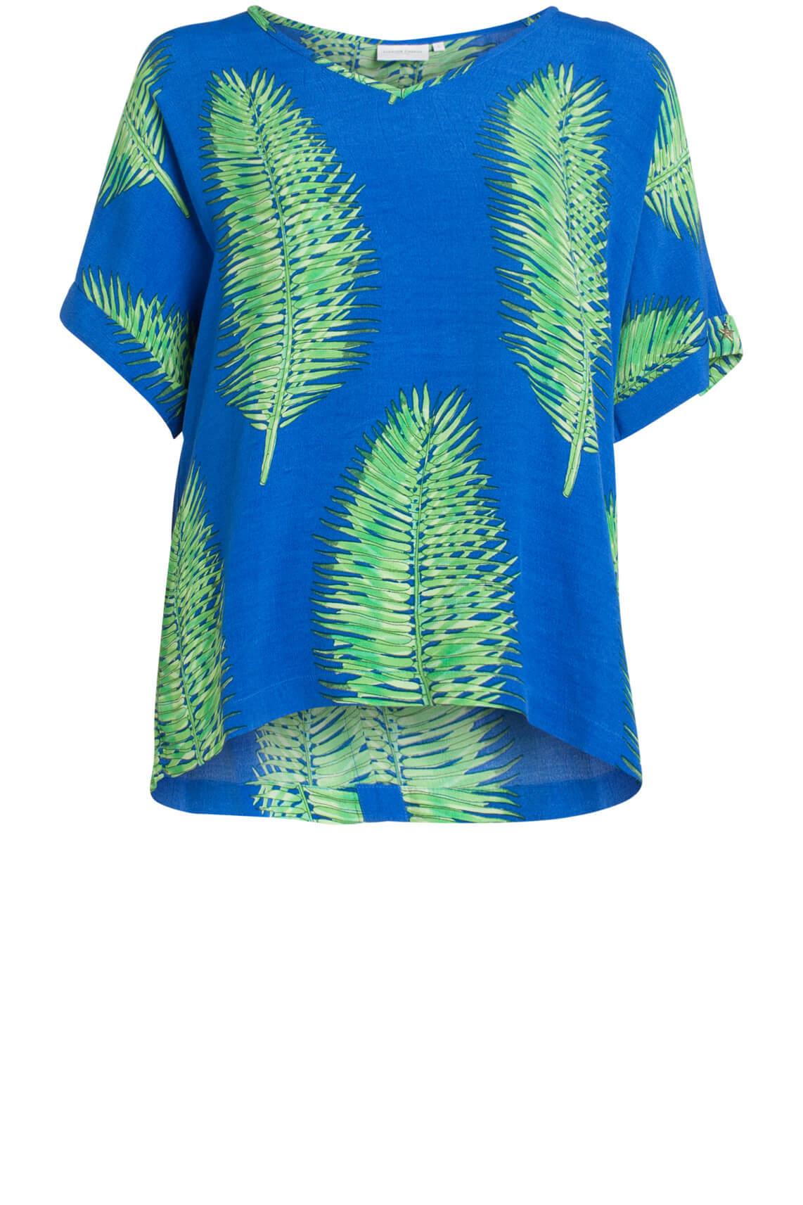 Fabienne Chapot Dames Shirt met palmblad Blauw