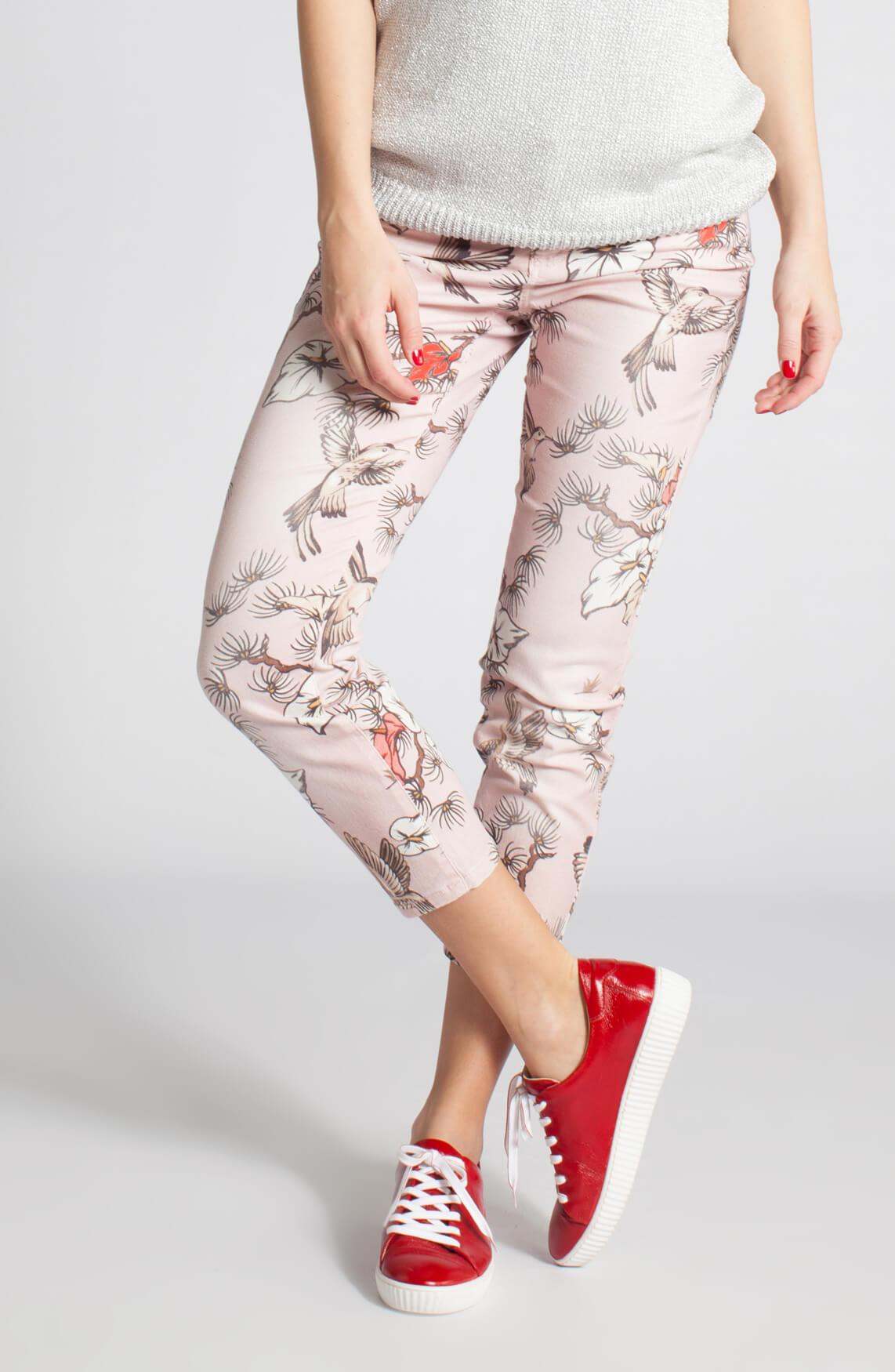 Cambio Dames Lilian jeans met bloemen 0
