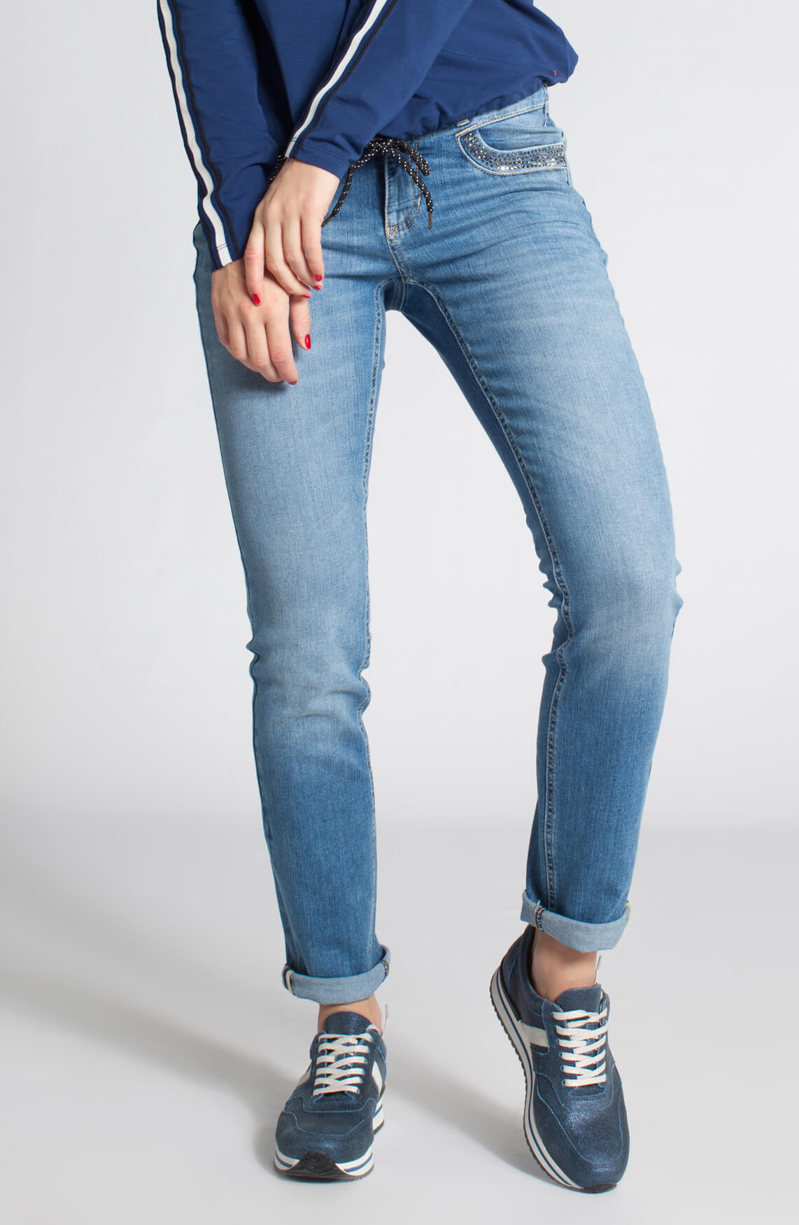 Cambio Dames Parlina jeans met studs