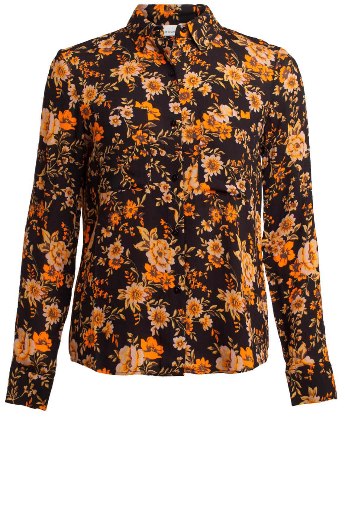 Samsoe Samsoe Dames Milly blouse met bloemen Oranje