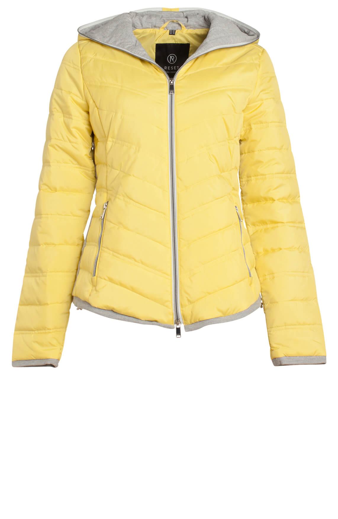 Reset Dames Casual jas met capuchon geel