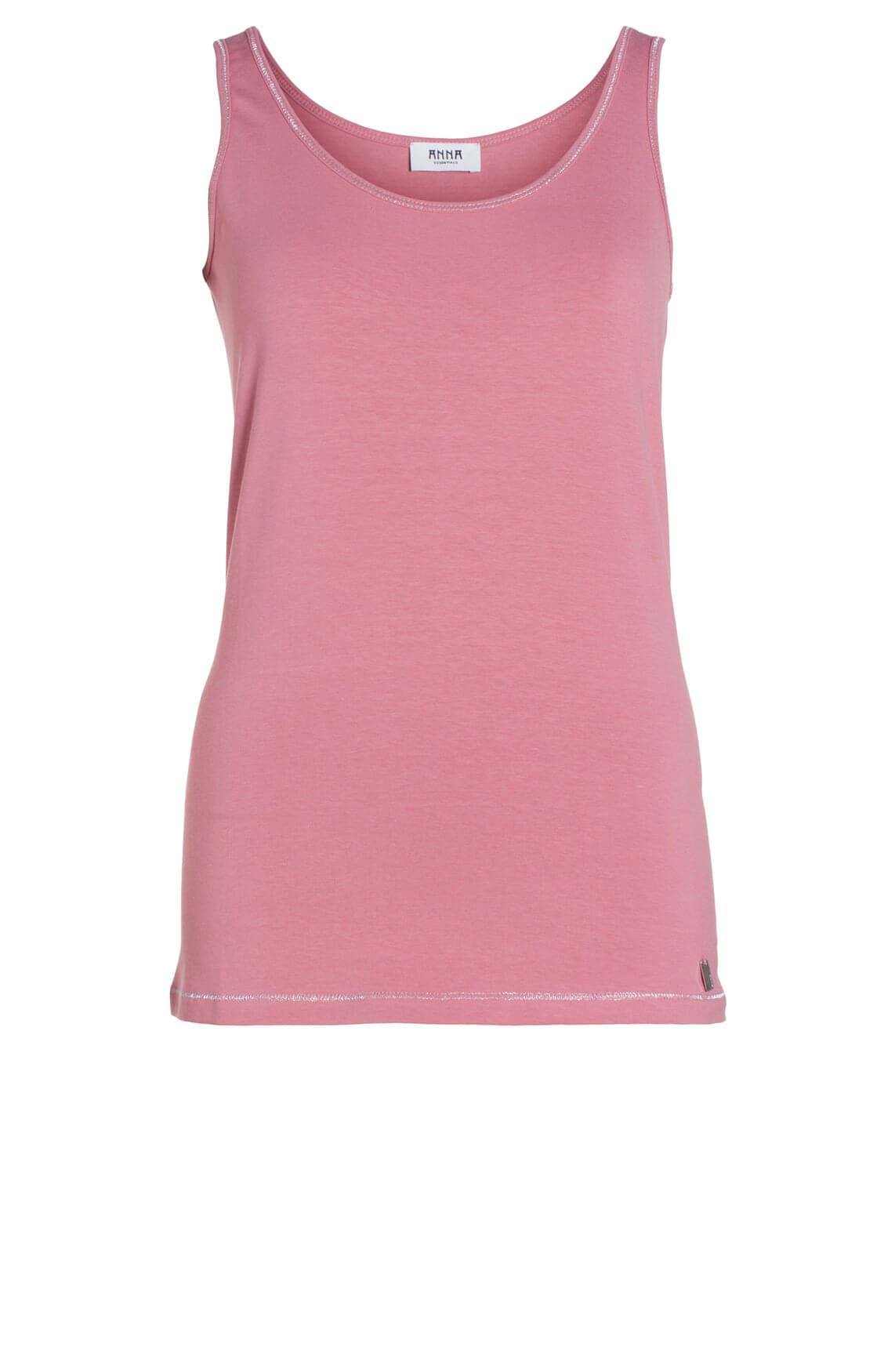 Anna Dames Top met lurex roze roze
