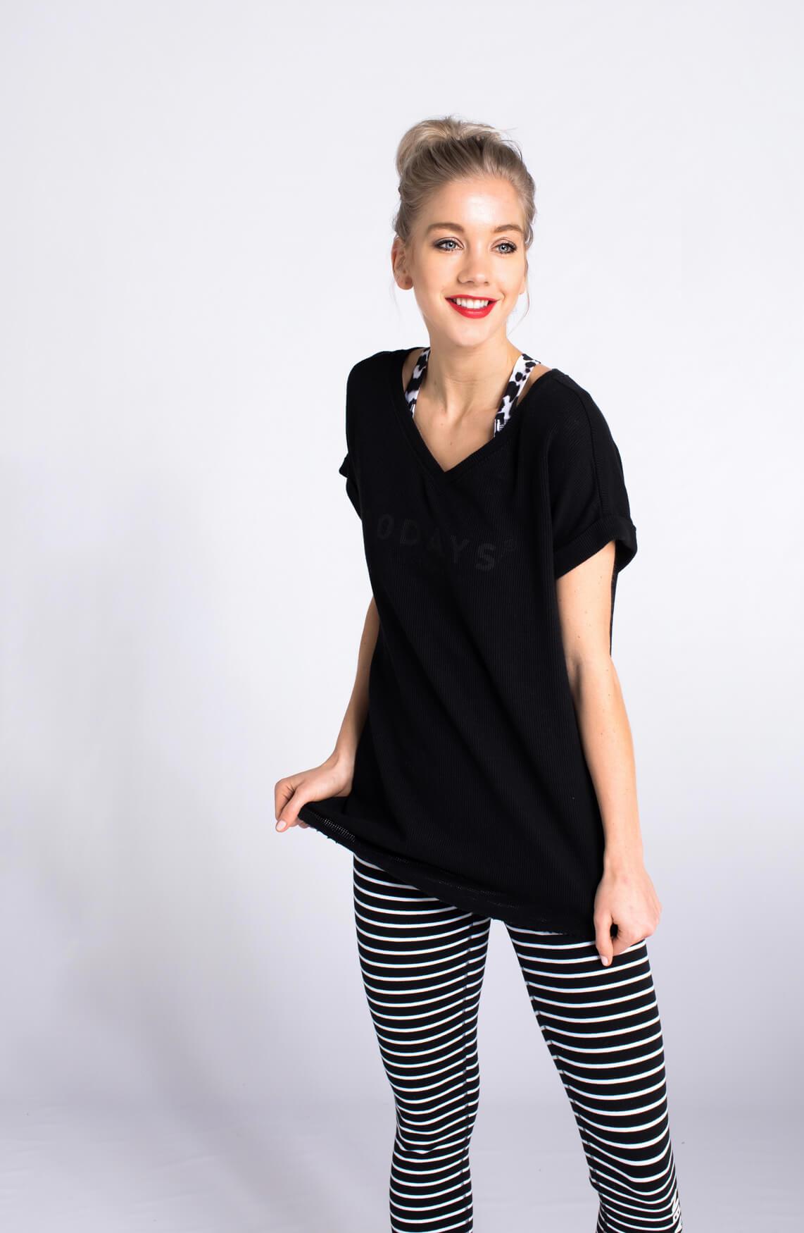 10 Days Dames Mesh shirt zwart zwart