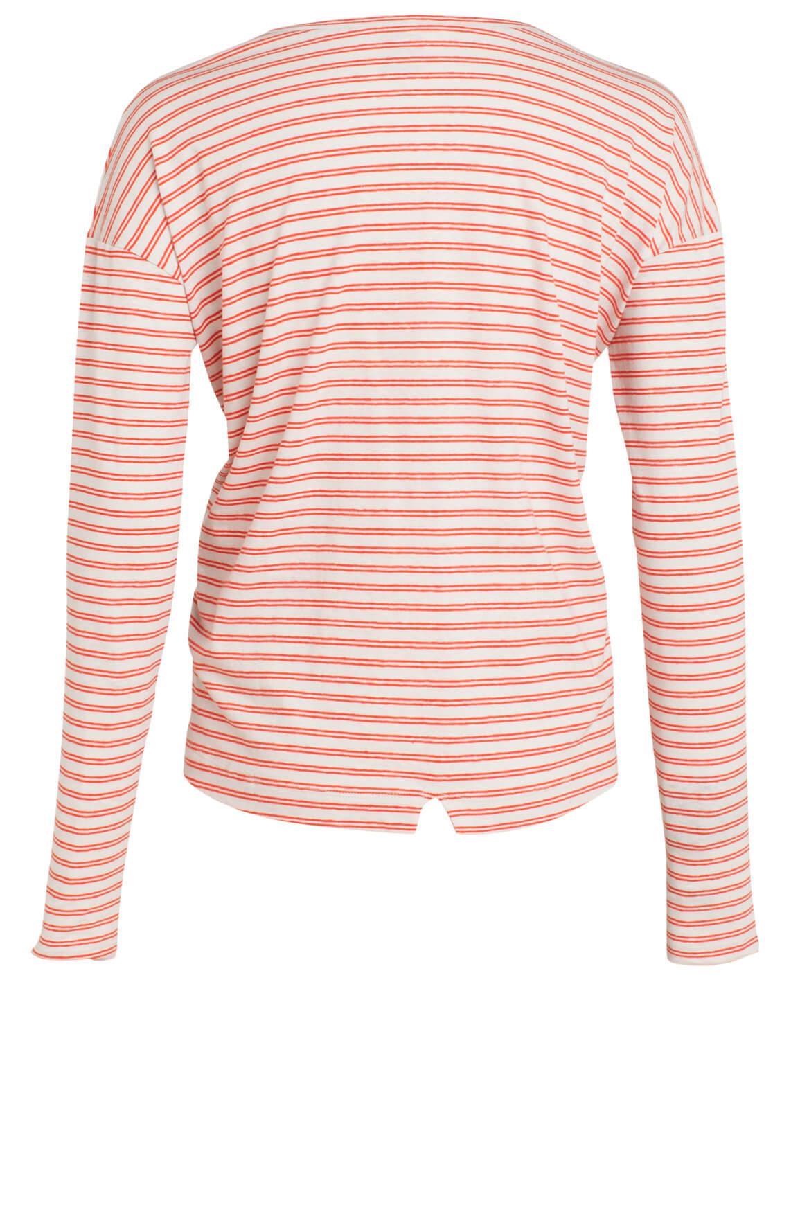 Penn & Ink Dames Gestreept shirt