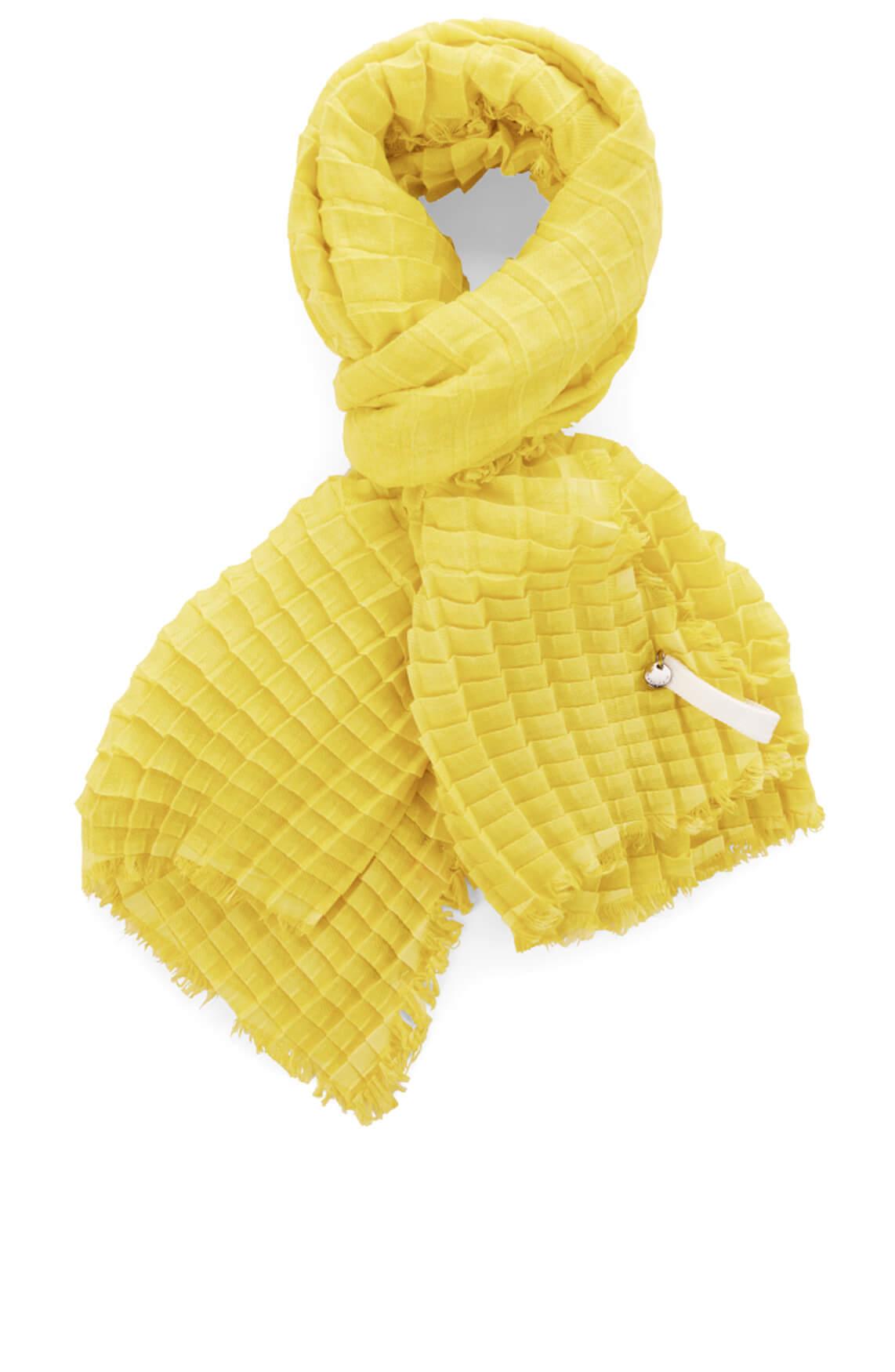 Marccain Dames Shawl met stuctuur geel