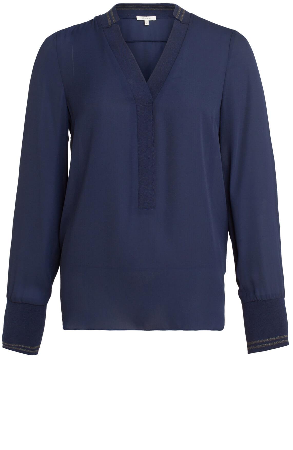 Kocca Dames Mito blauwe blouse Blauw