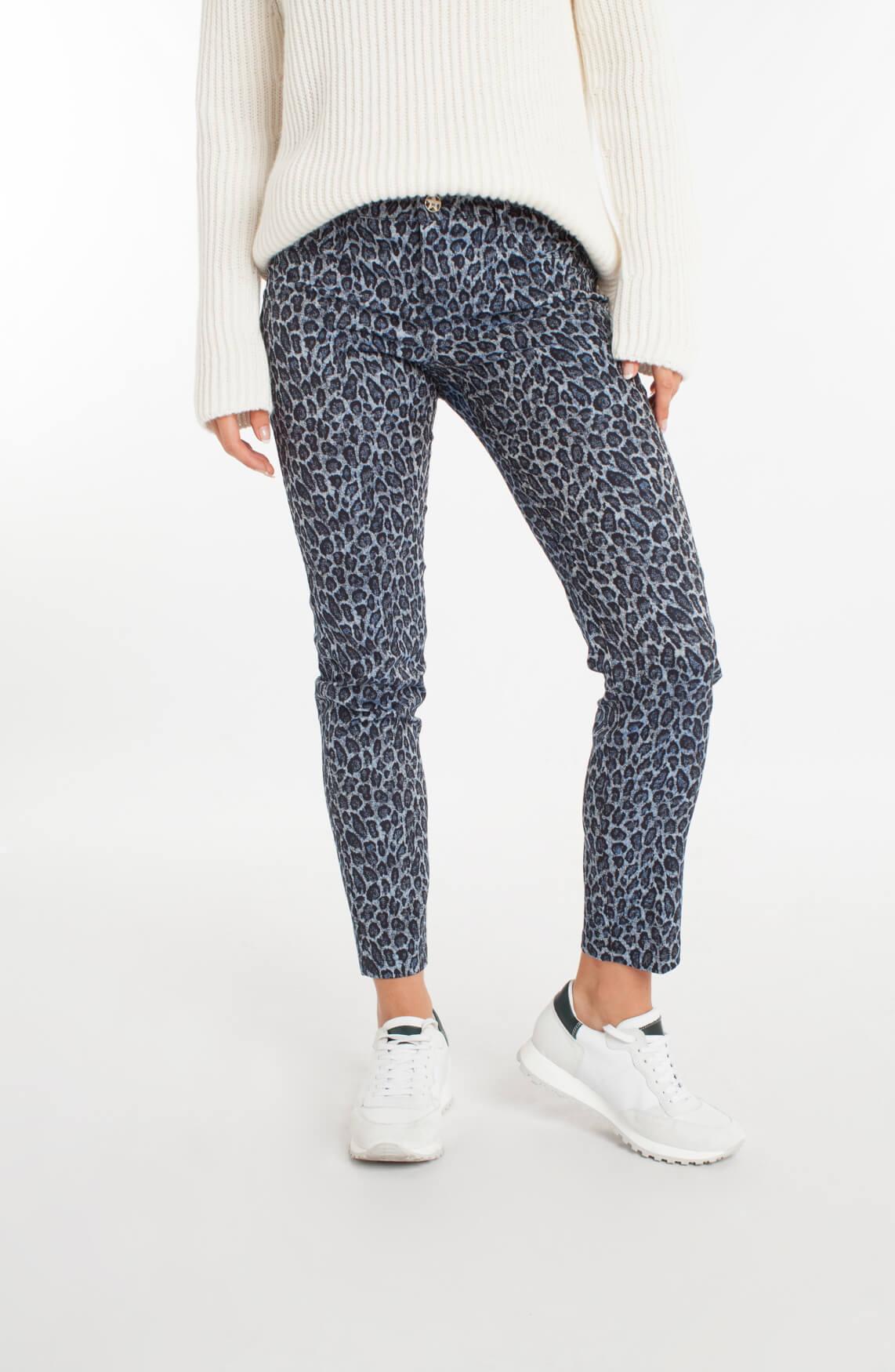 Kocca Dames Bosel panterprint broek Blauw