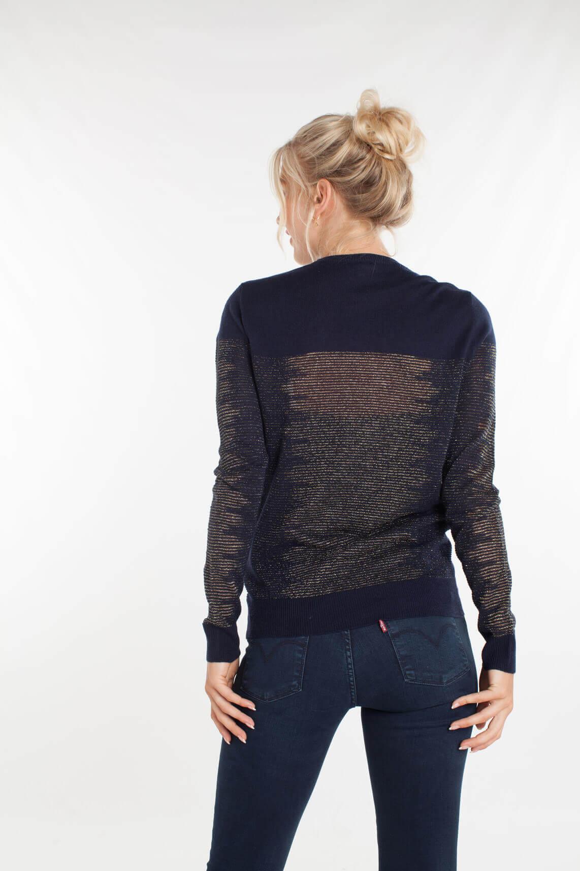 Kocca Dames Eborat pullover met lurex Blauw