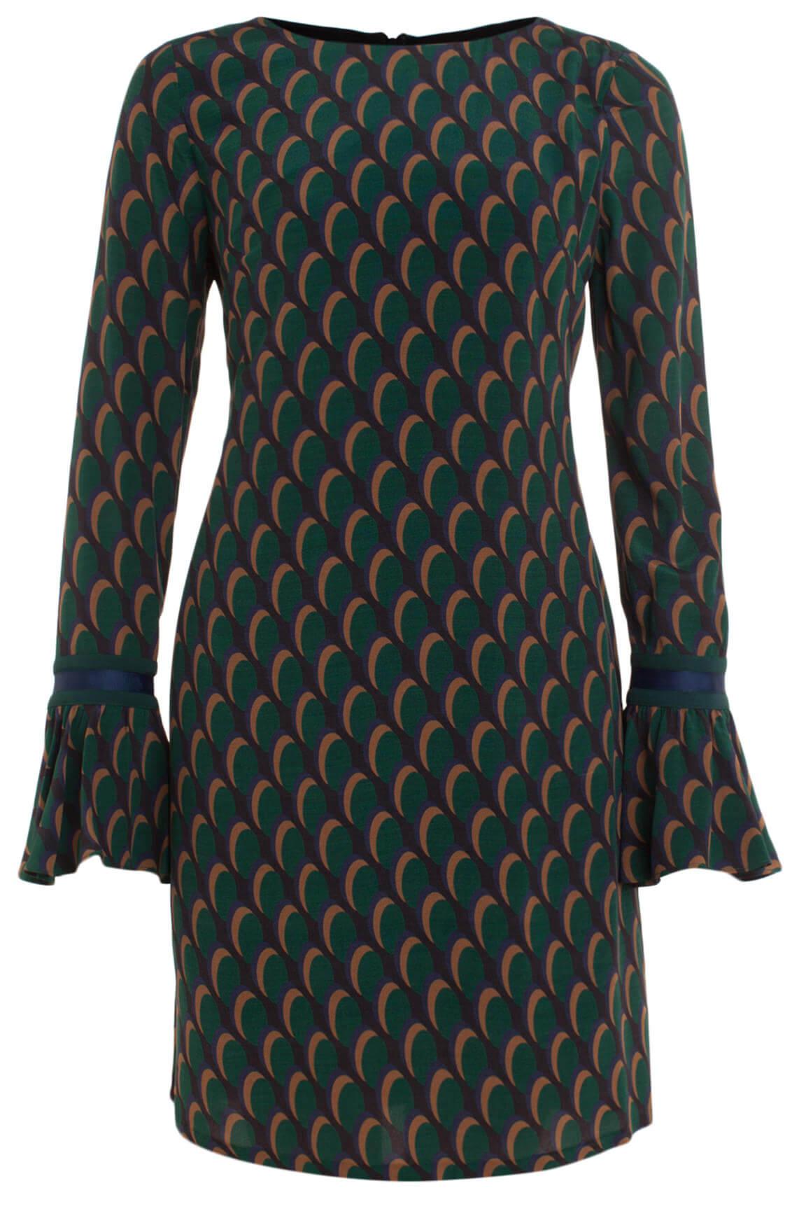 Kocca Dames Yoshik jurk met volantmouwen groen