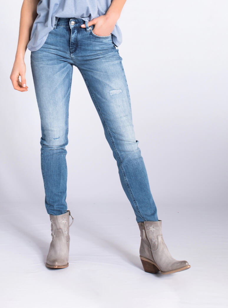 Drykorn Dames Pull jeans Blauw