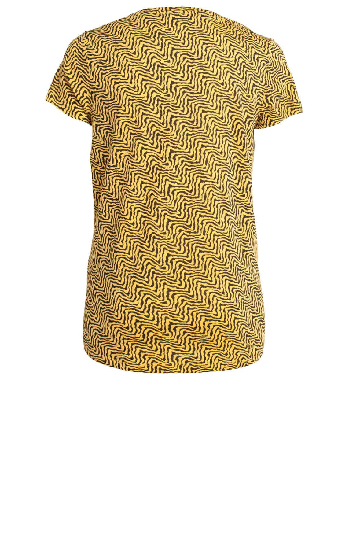 Maison Scotch Dames Shirt met print geel