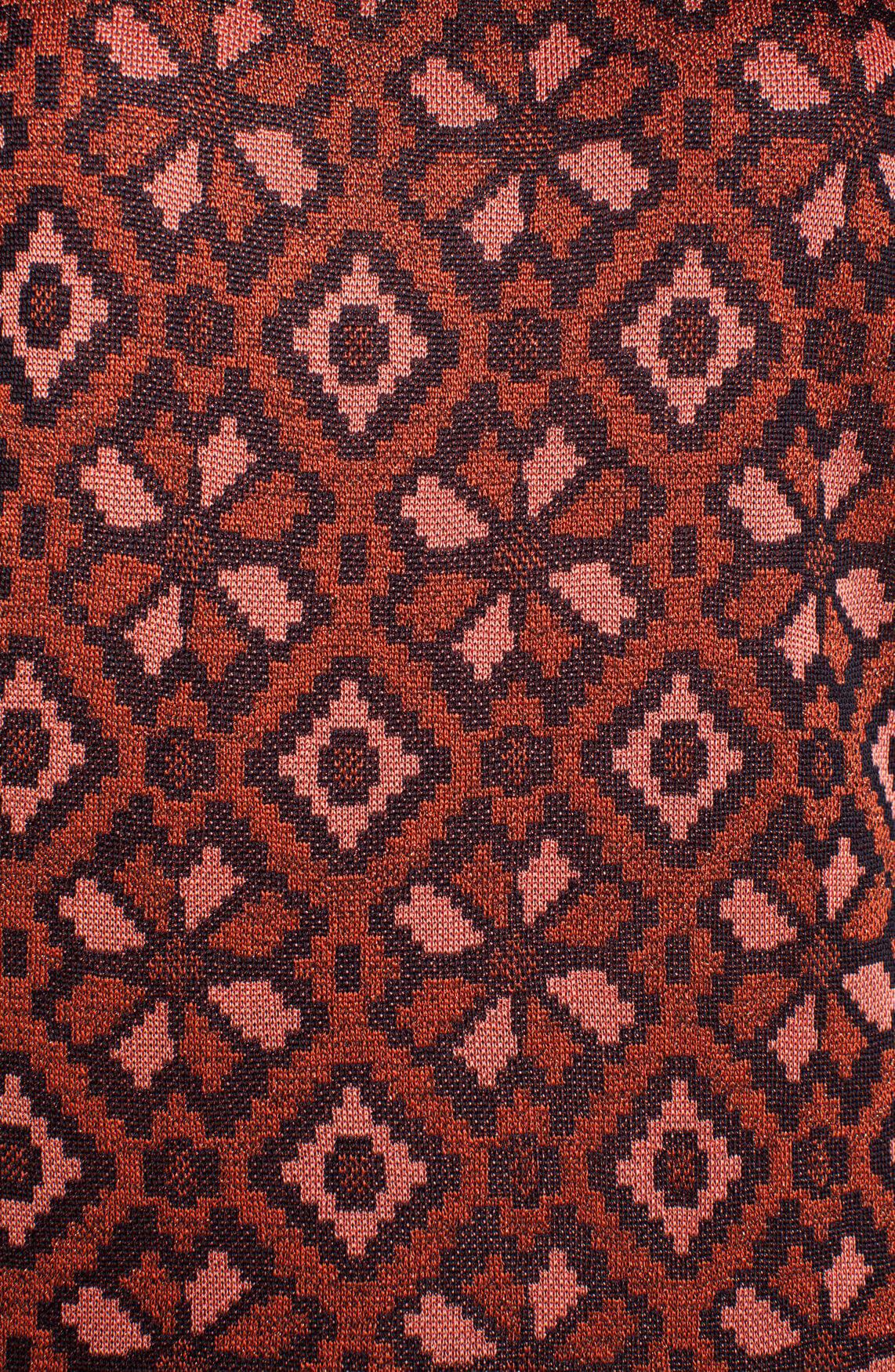 Maison Scotch Dames Fijngebreid shirt met lurex Bruin