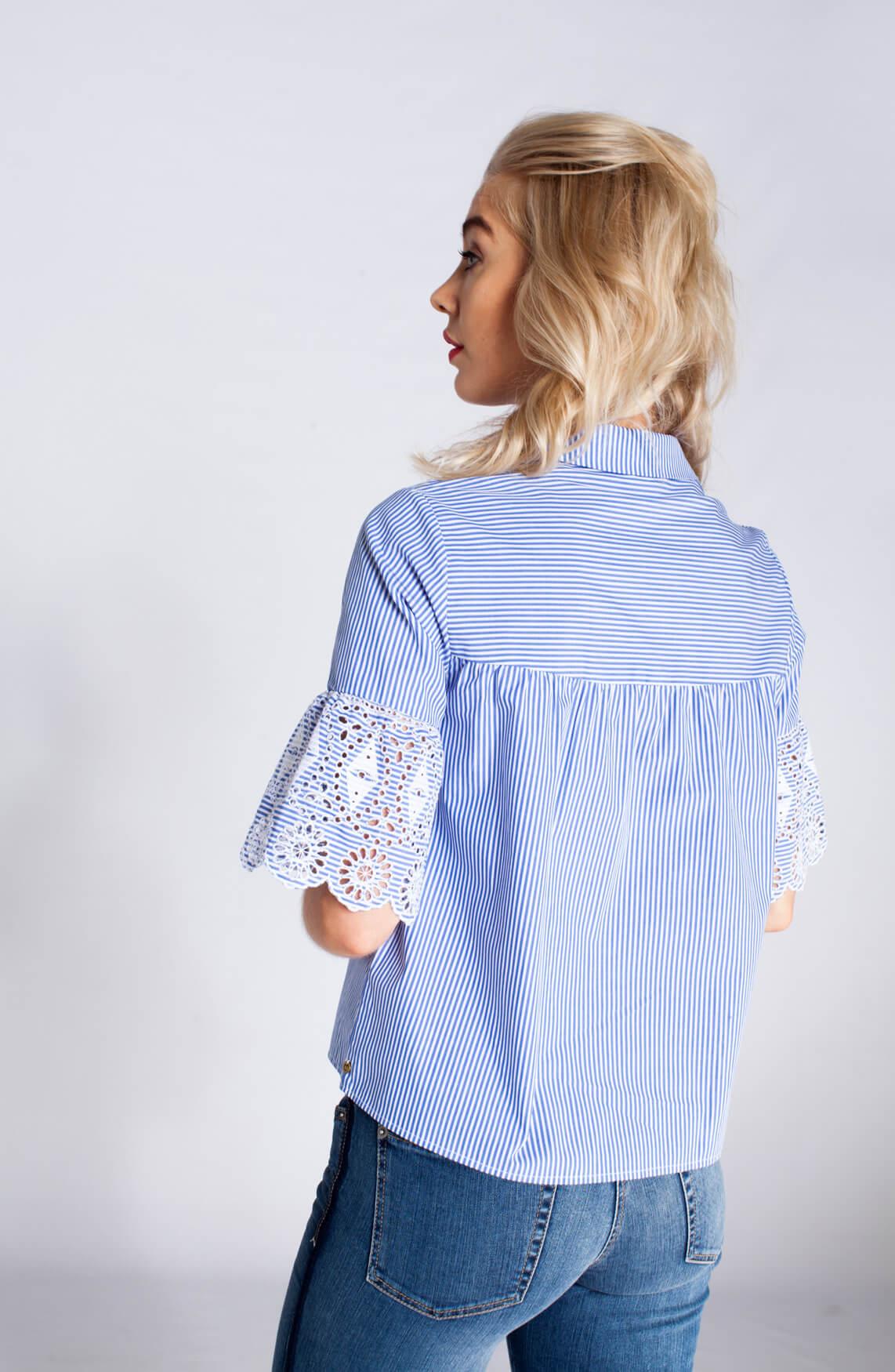 Maison Scotch Dames Gestreepte blouse Blauw