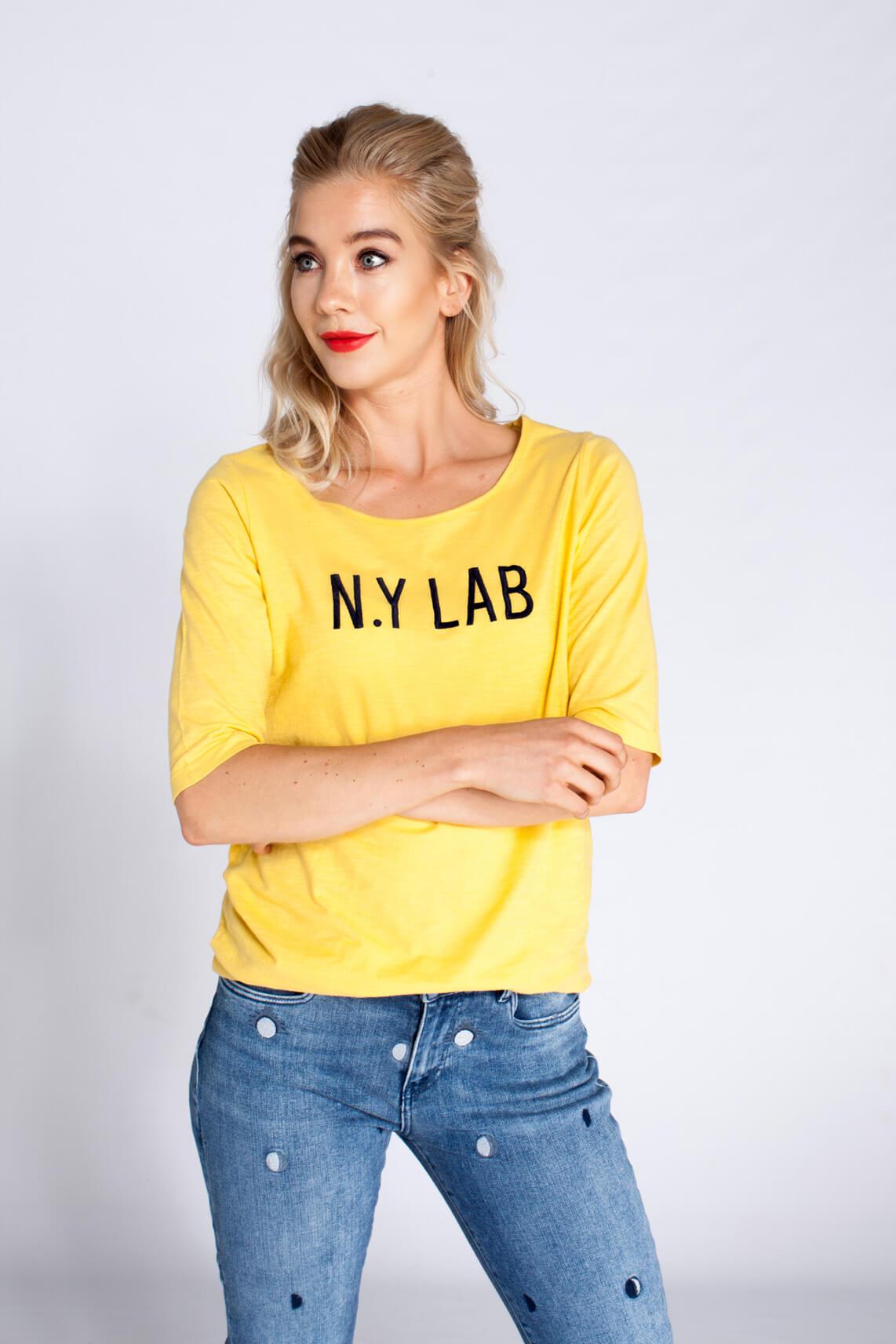 Penn & Ink Dames Shirt N.Y LAB geel