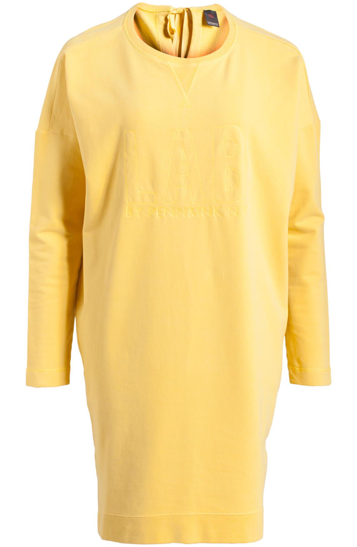 Penn & Ink Dames Comfortabele jurk geel