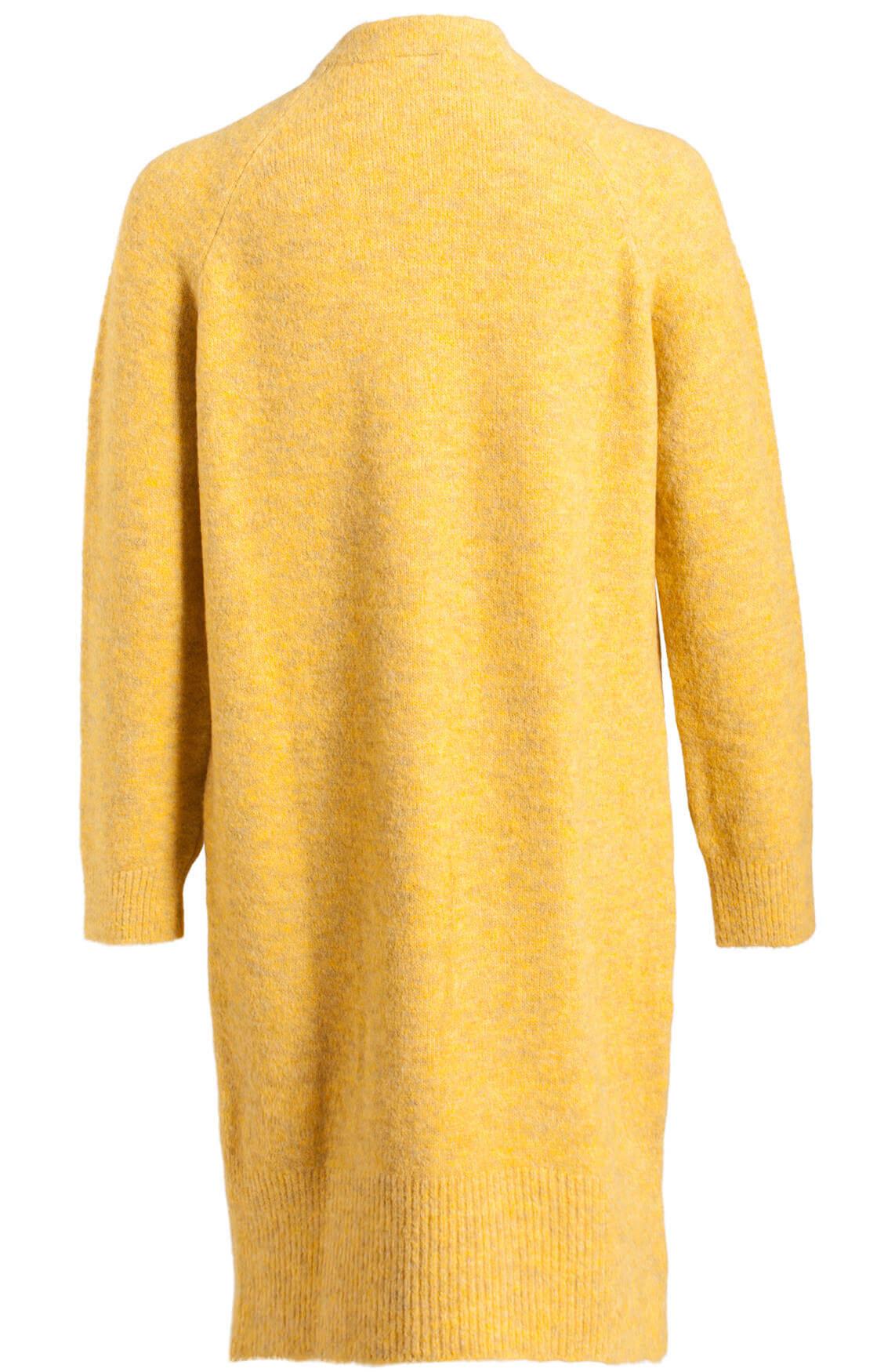 Penn & Ink Dames Grofgebreid vest geel