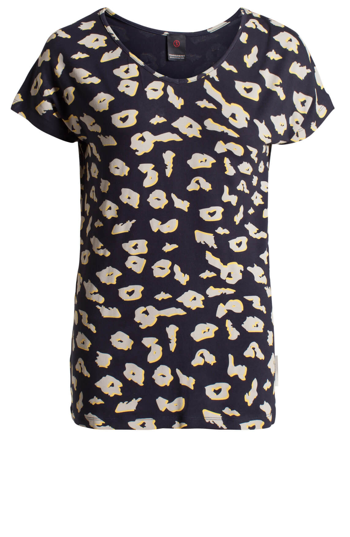 Penn & Ink Dames Shirt met print Blauw