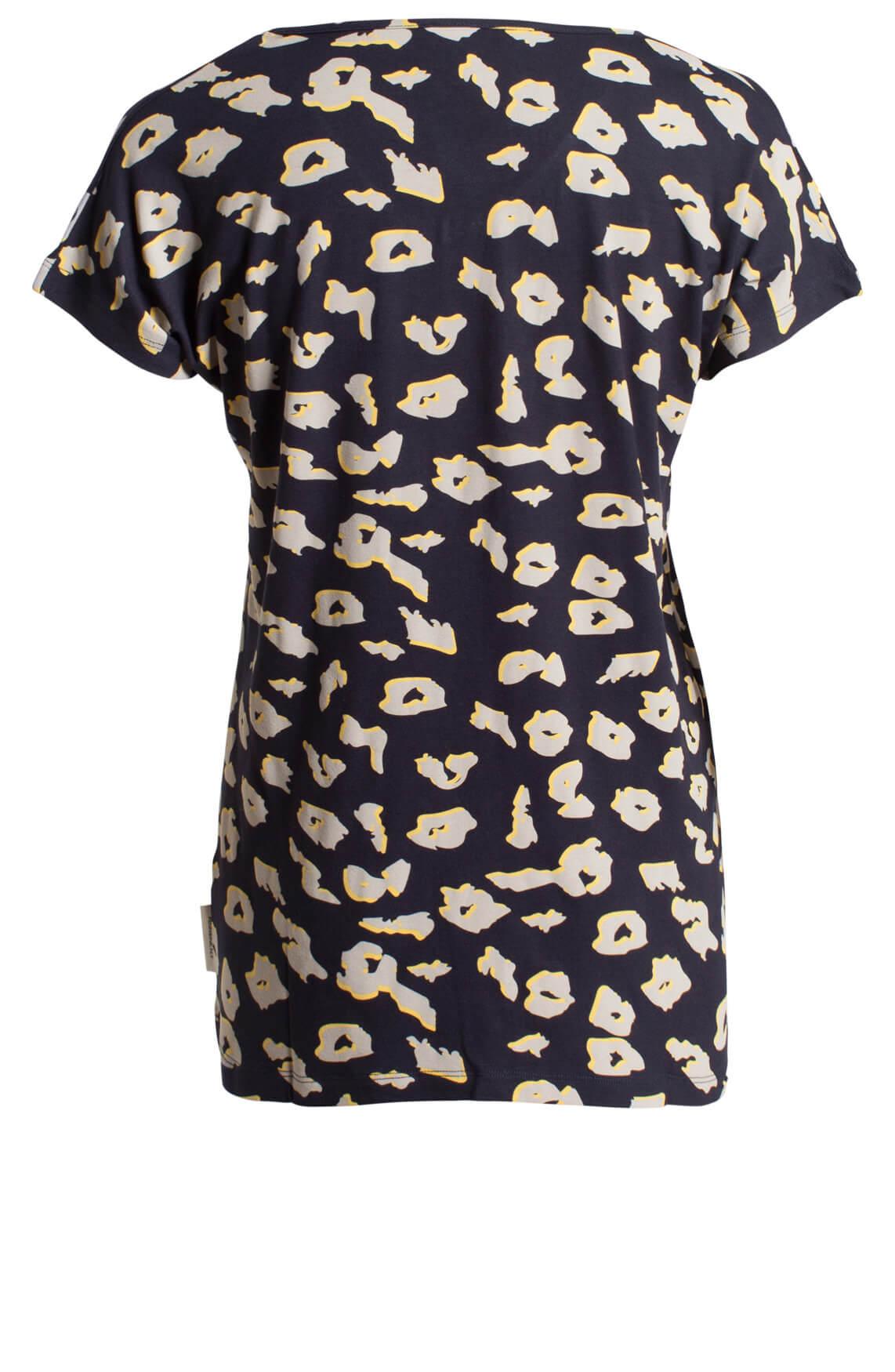 Penn & Ink Dames Shirt met print Blauw | Anna van Toor - photo#8