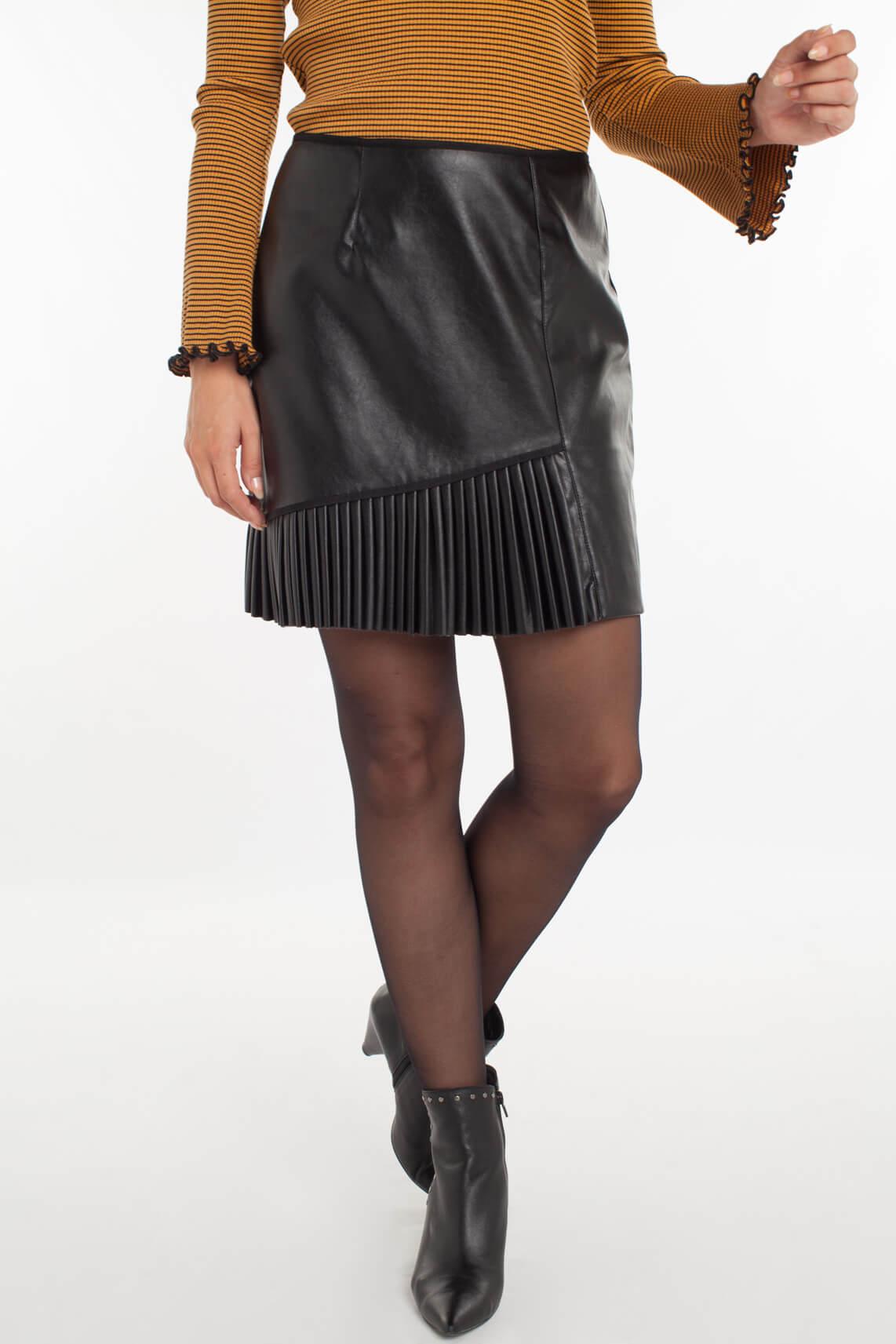 Kocca Dames Cansel rok met plissé detail zwart