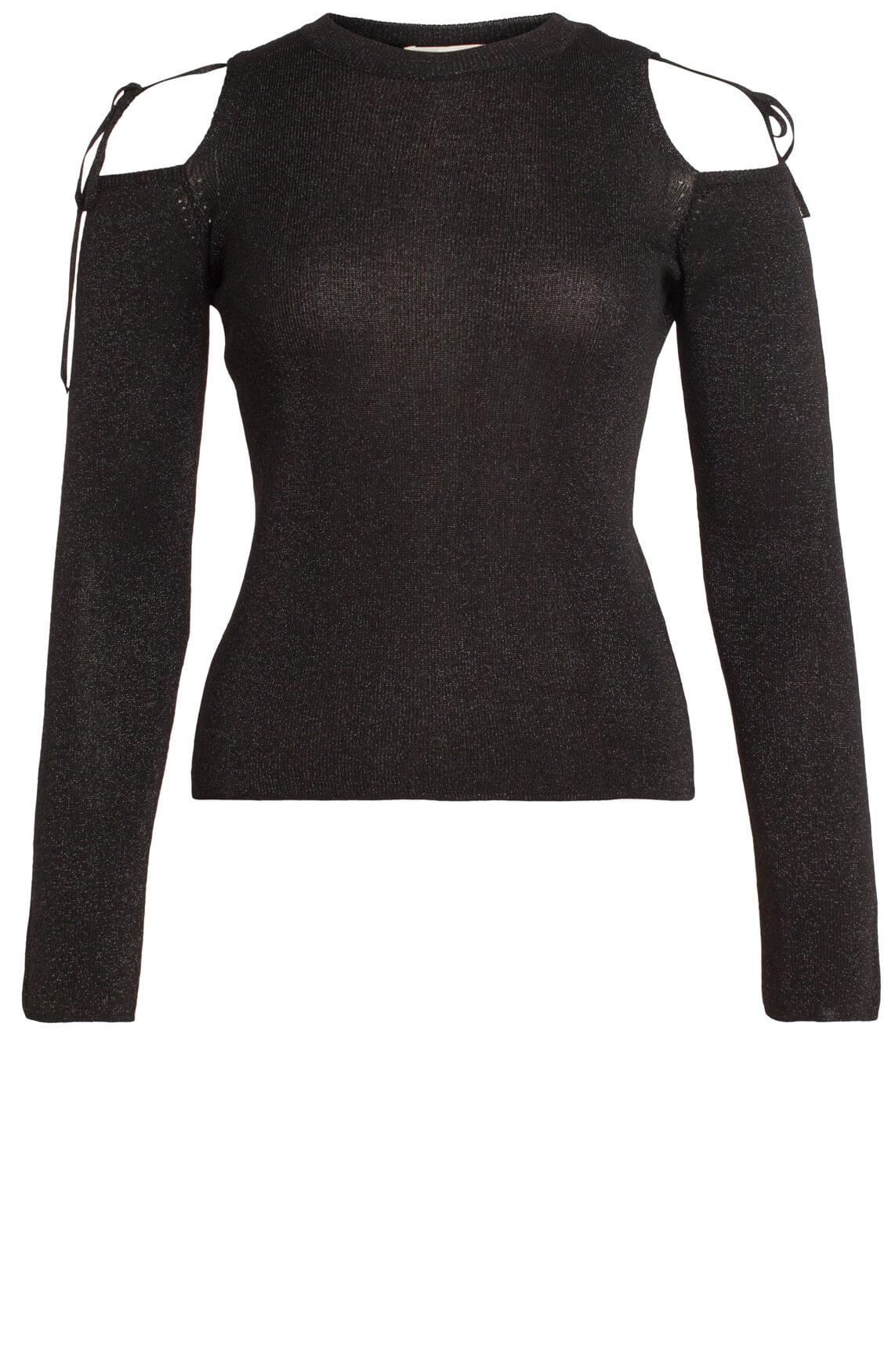 Kocca Dames Egon glitter pullover zwart