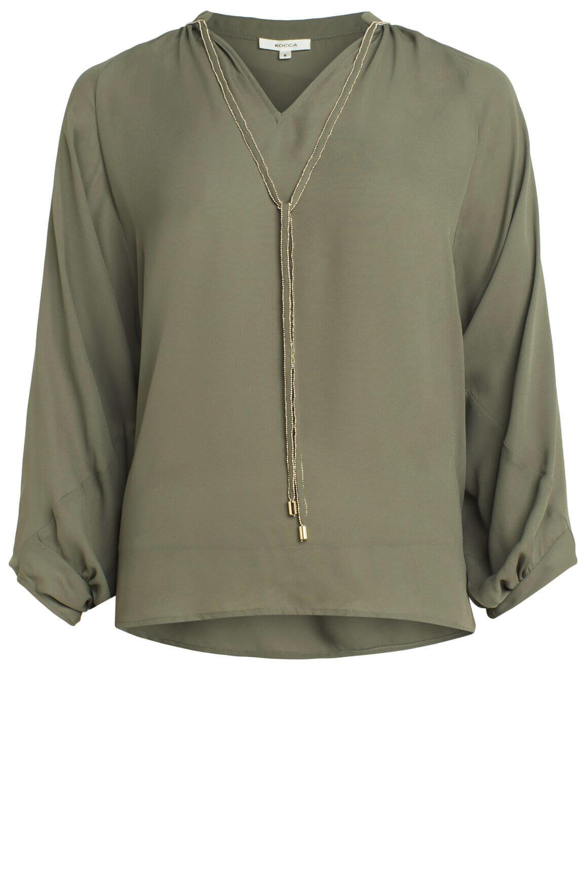 Kocca Dames Manu blouse groen