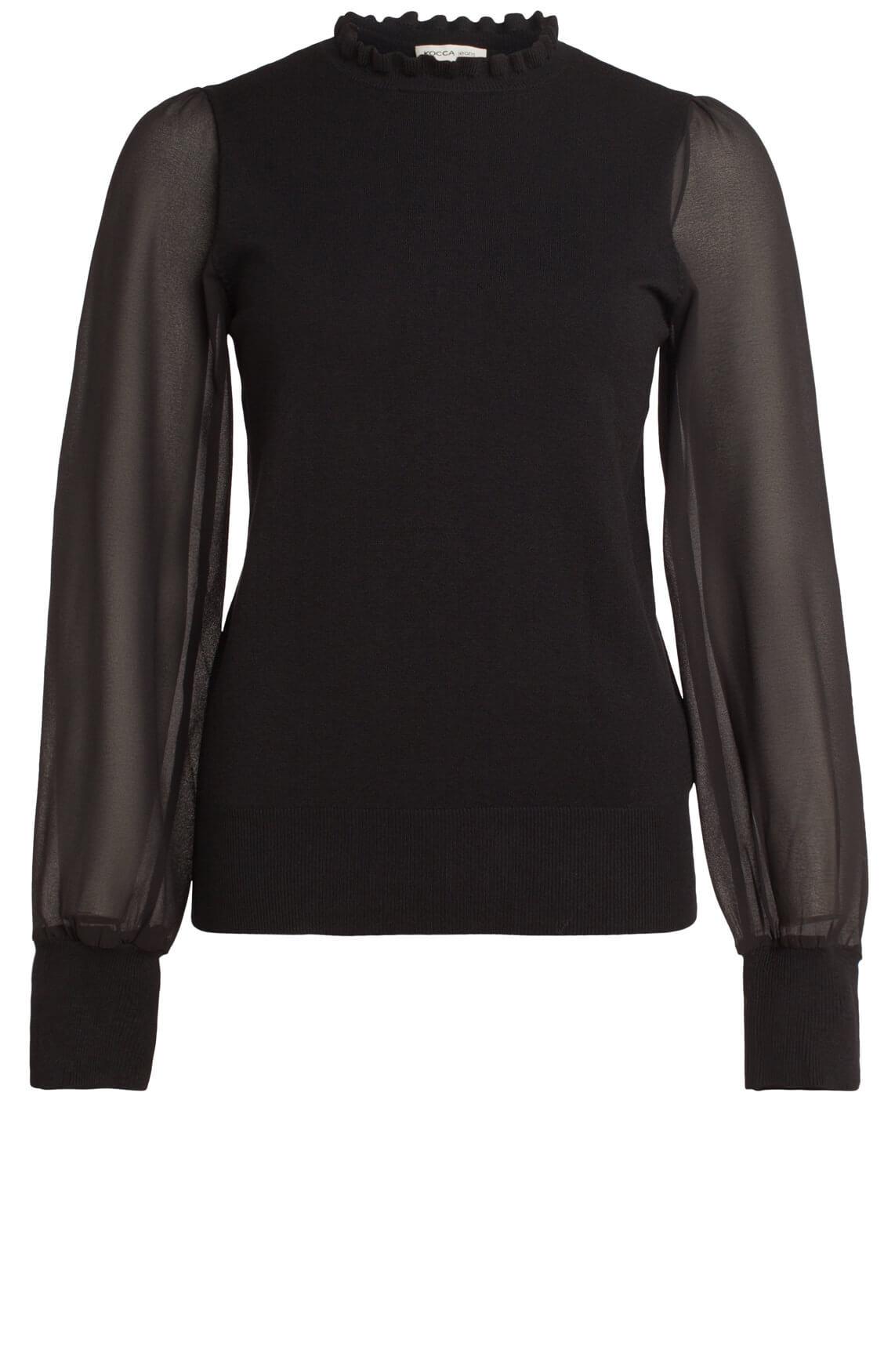 Kocca Dames Golia chique pullover zwart