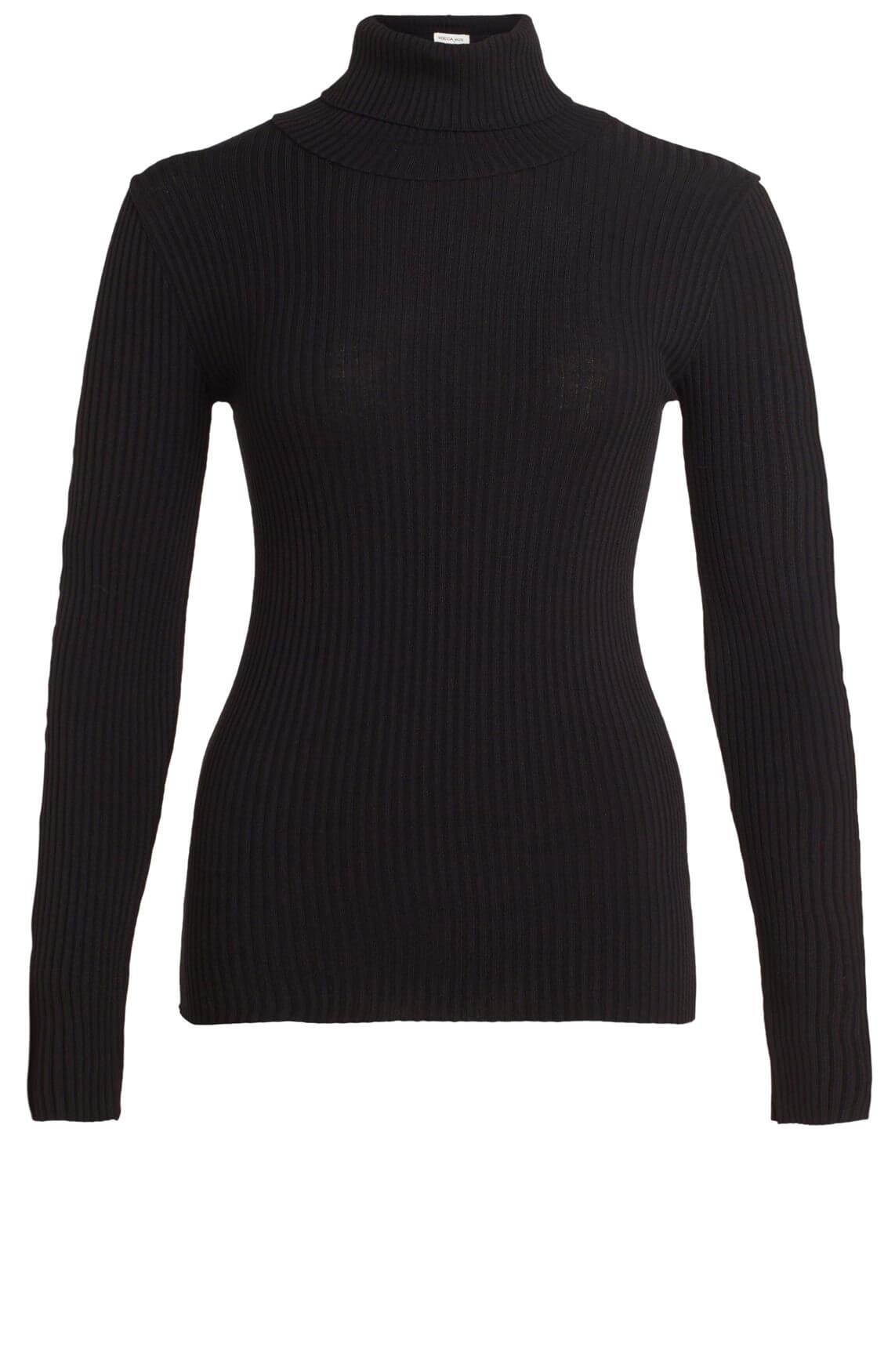 Kocca Dames Bacco pullover met col zwart