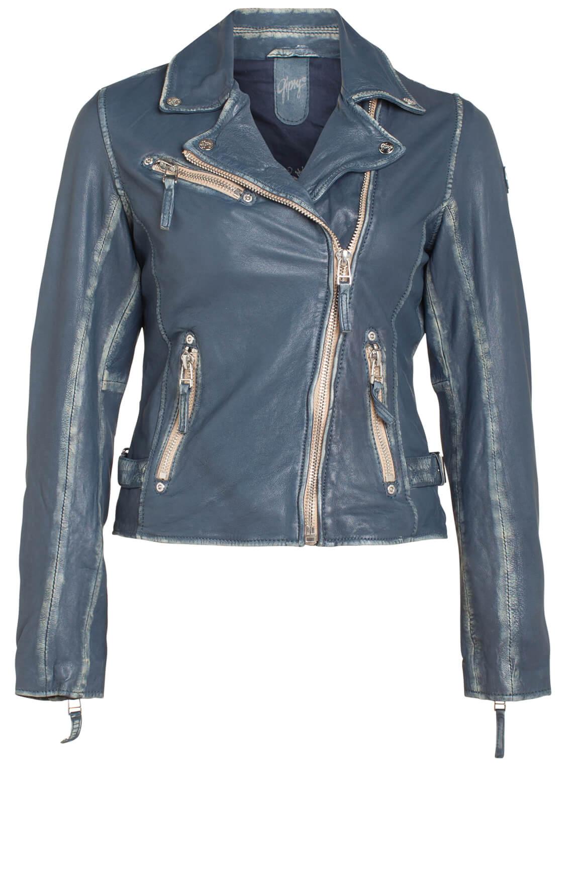 Gipsy Dames Bikerjack blue Blauw