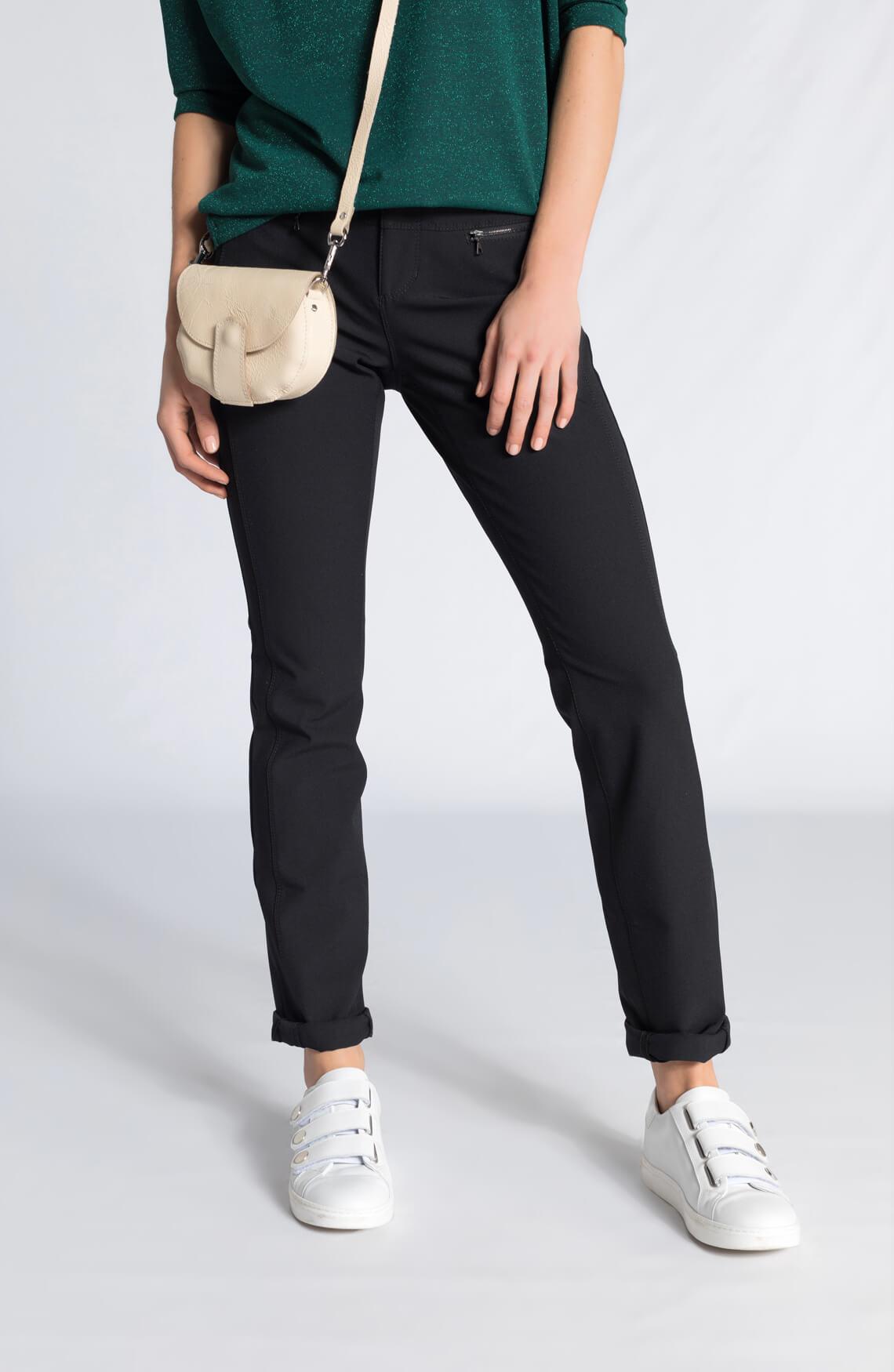 Cambio Dames Parla zip pantalon zwart