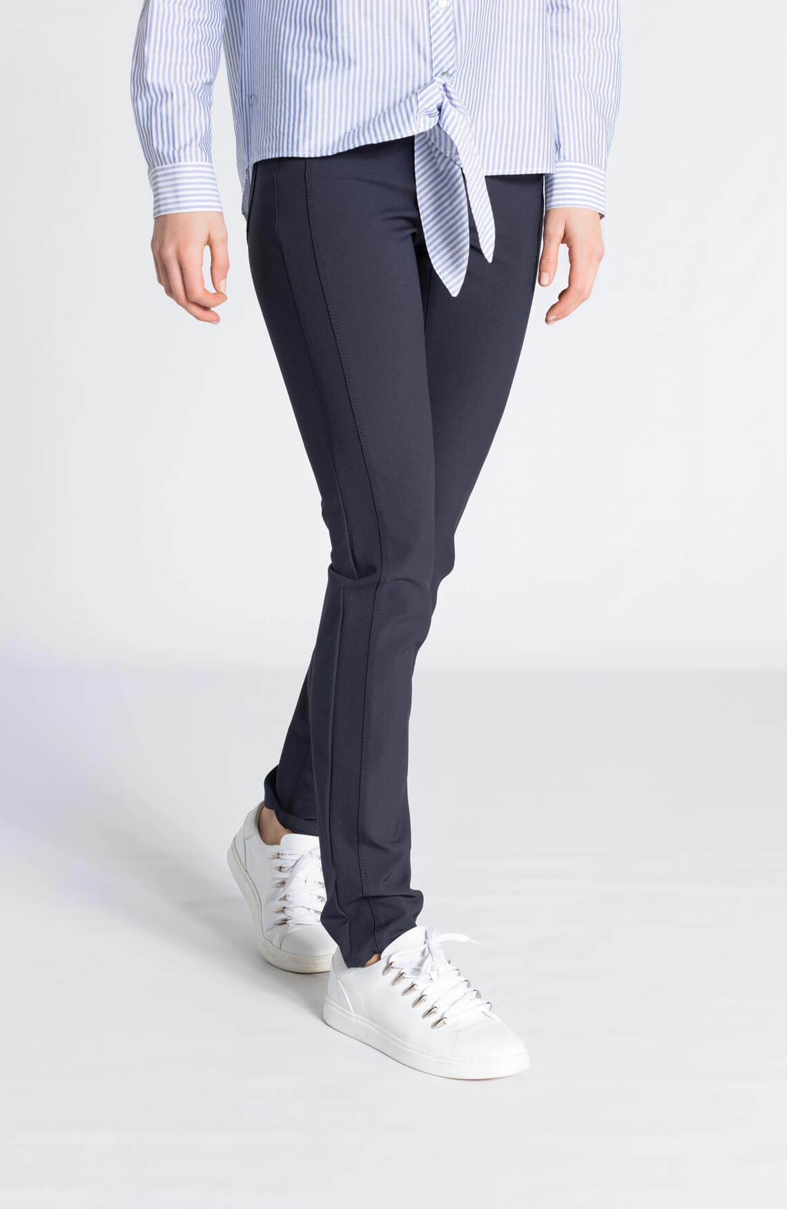 Cambio Dames Parla zip pantalon marine Blauw