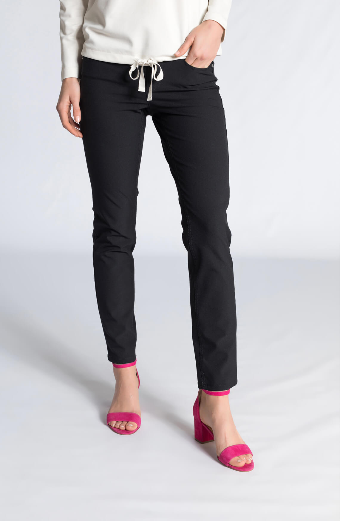 Cambio Dames Posh pantalon zwart