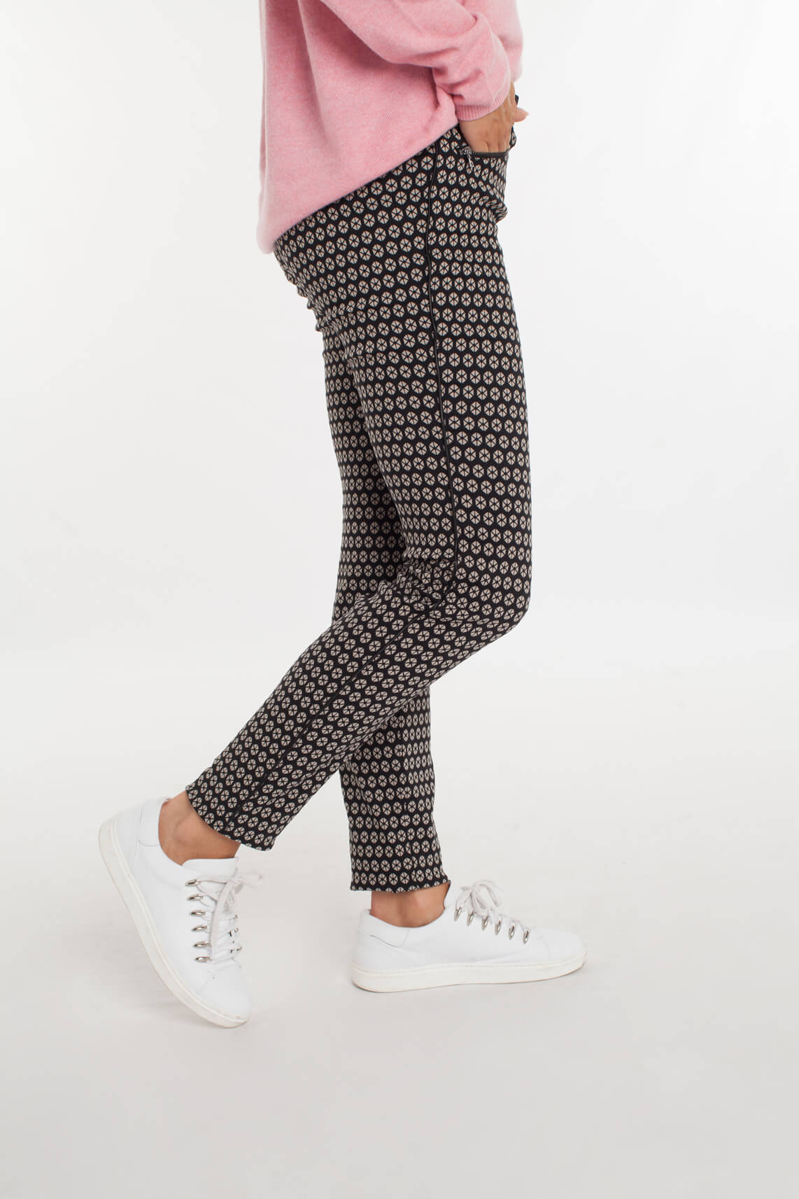 Rosner Dames Antonia broek met print zwart