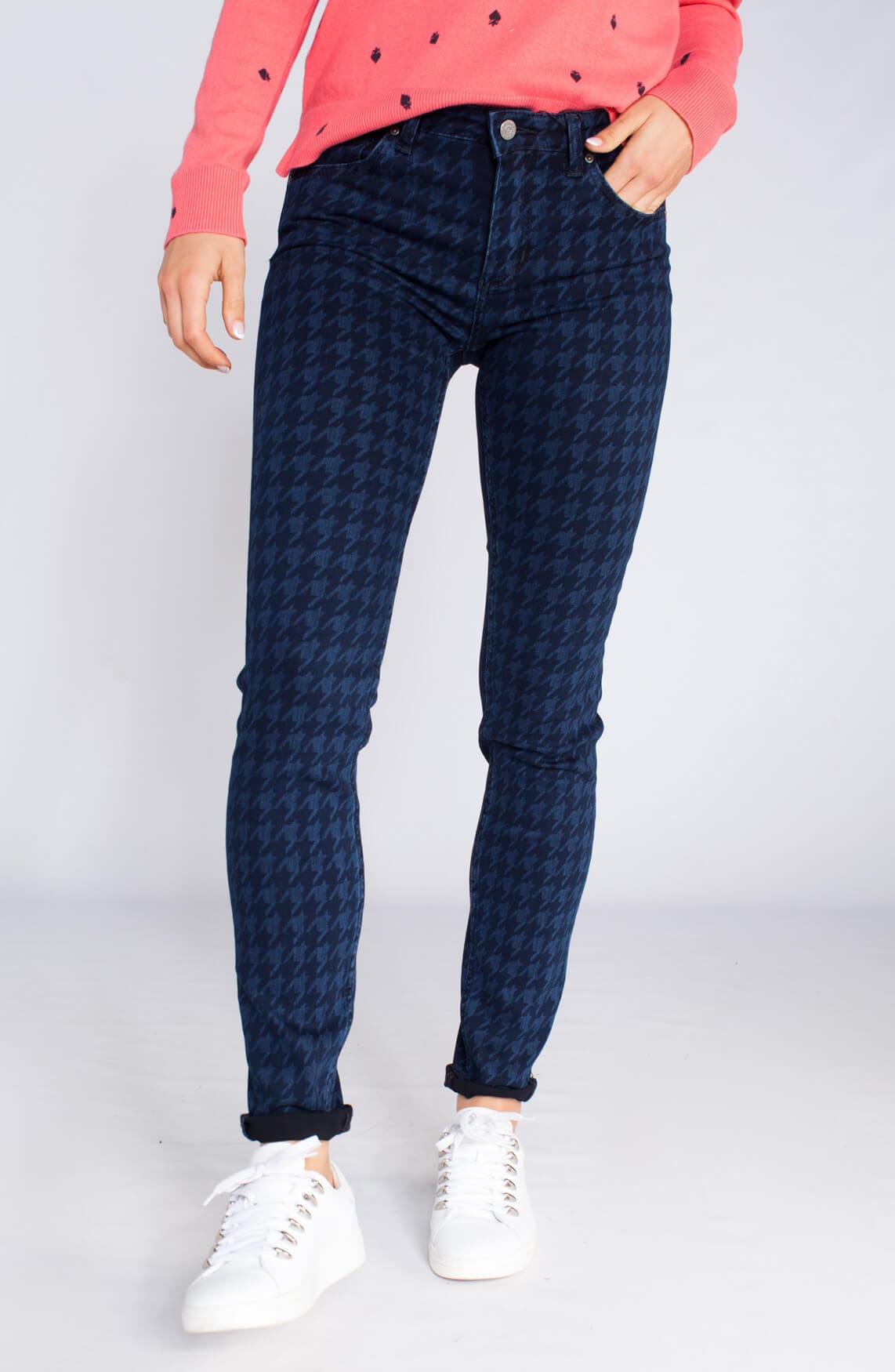 Rosner Dames Antonia pied-de-poule jeans Blauw