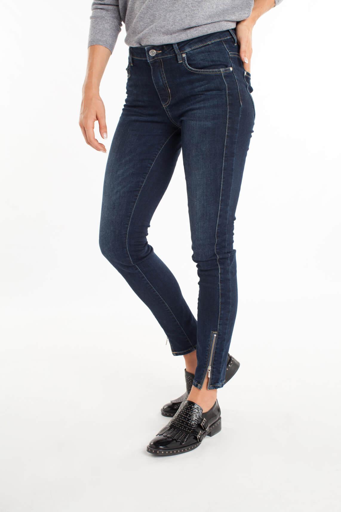 Rosner Dames Antonia jeans met rits detail Blauw
