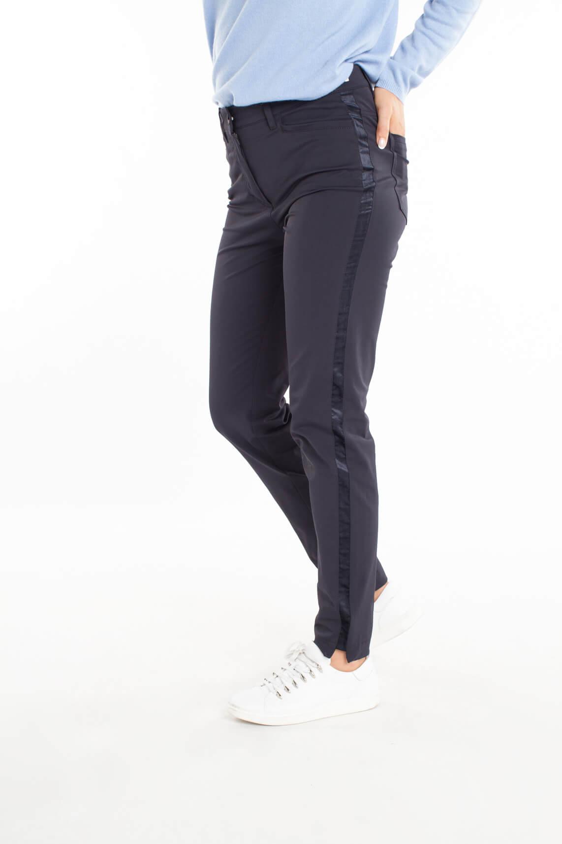 Rosner Dames Audrey pantalon met bies Blauw
