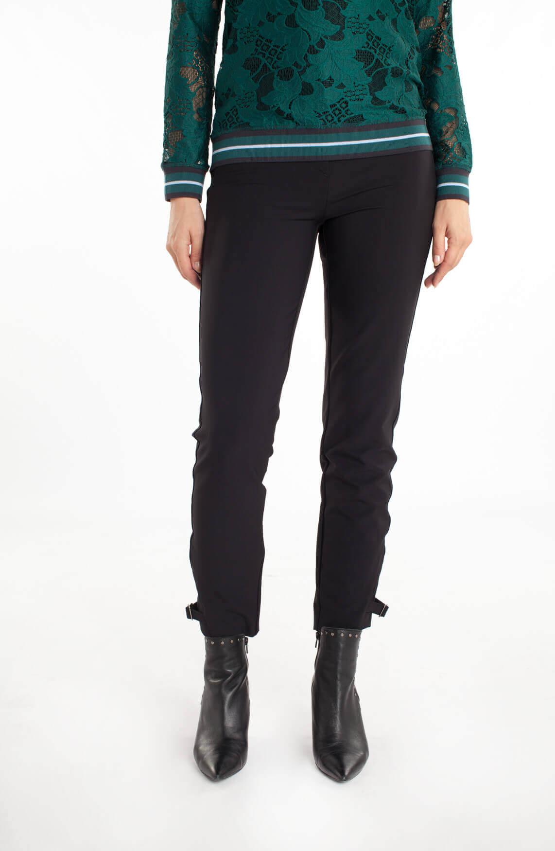 Rosner Dames Alisa pantalon met gespen zwart